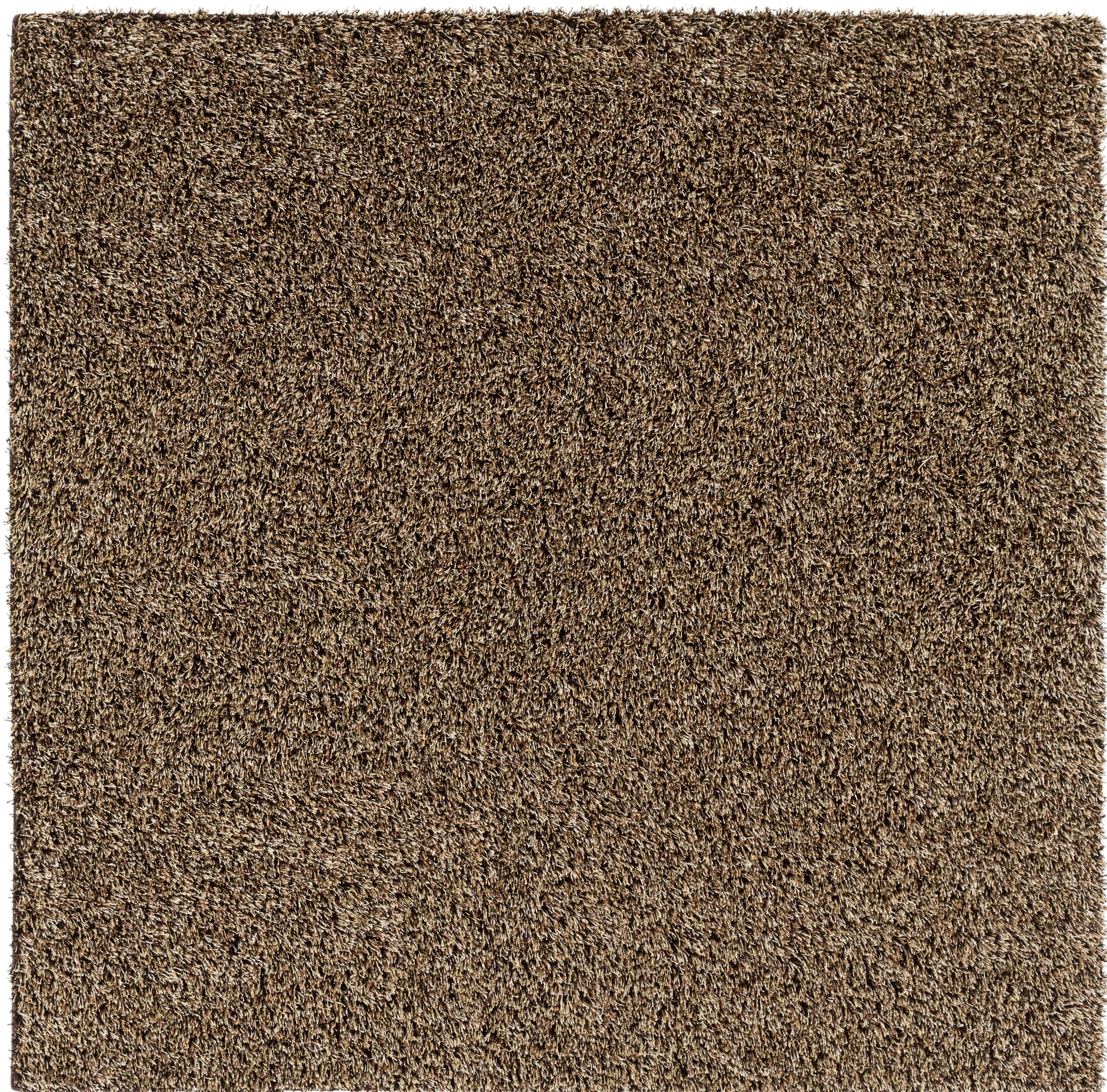 Brown Area Rug Rug Size: Square 6'