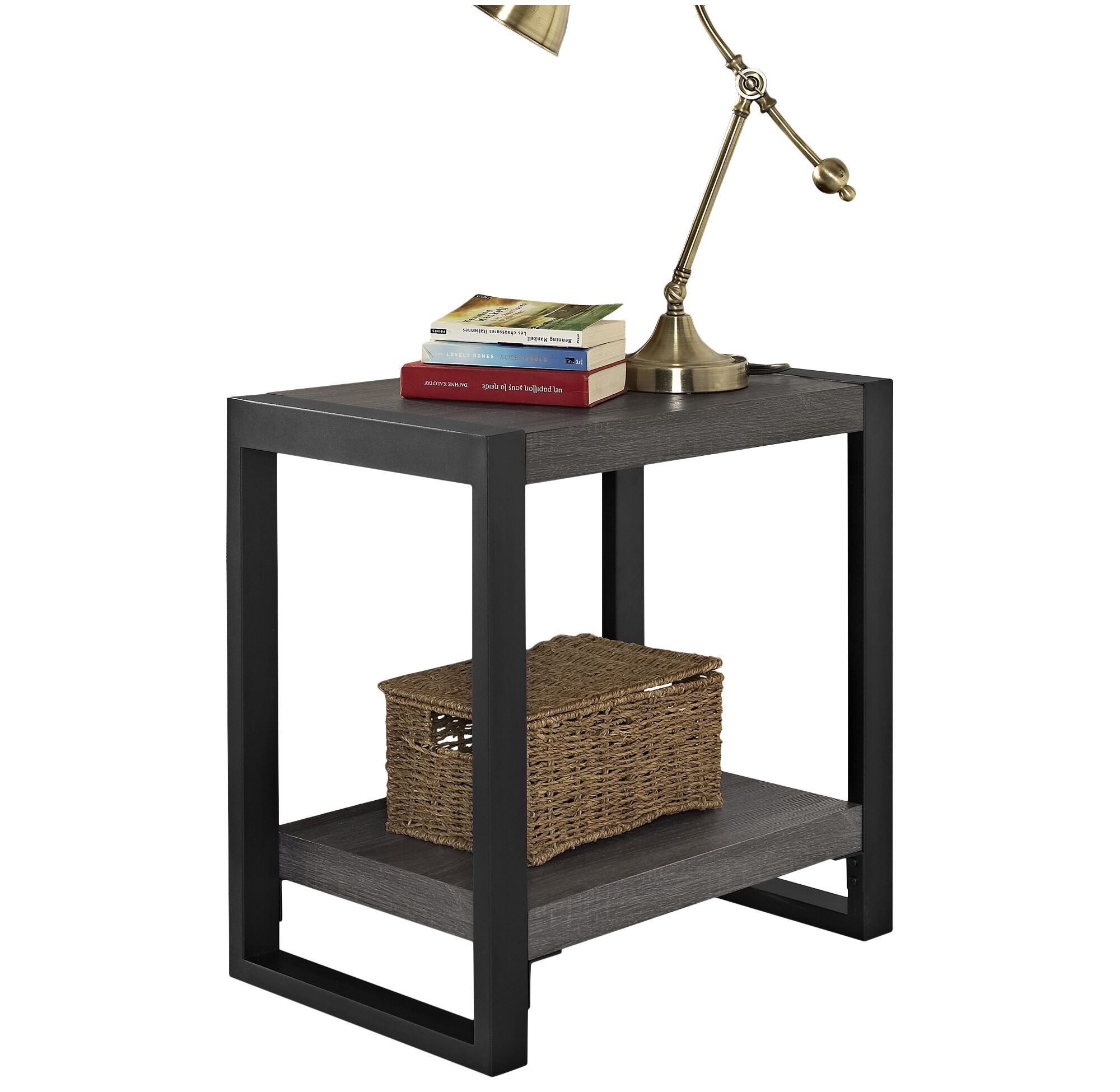 Theodulus End Table Color: Charcoal