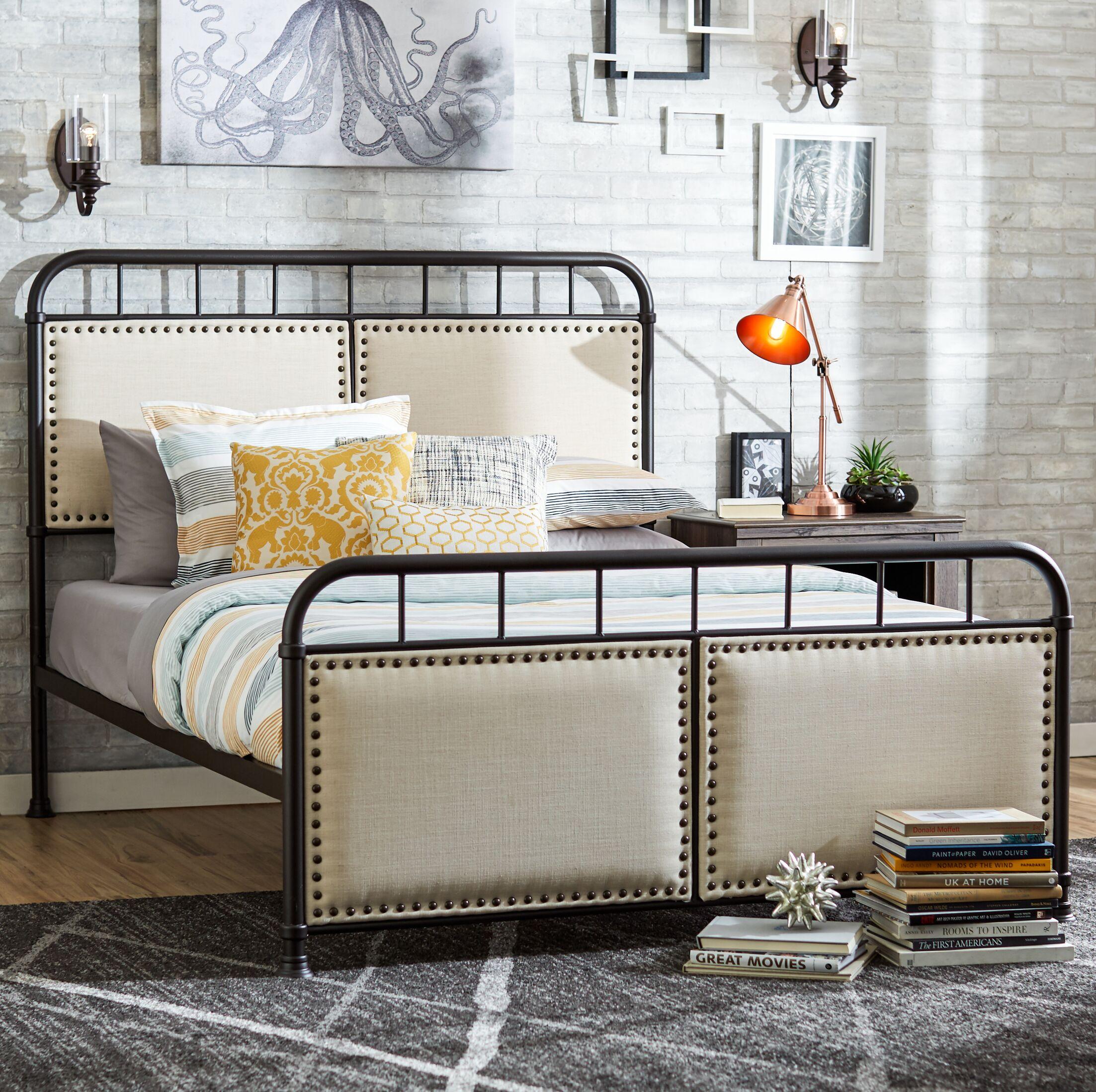 Mondragon Queen Upholstered Panel Bed