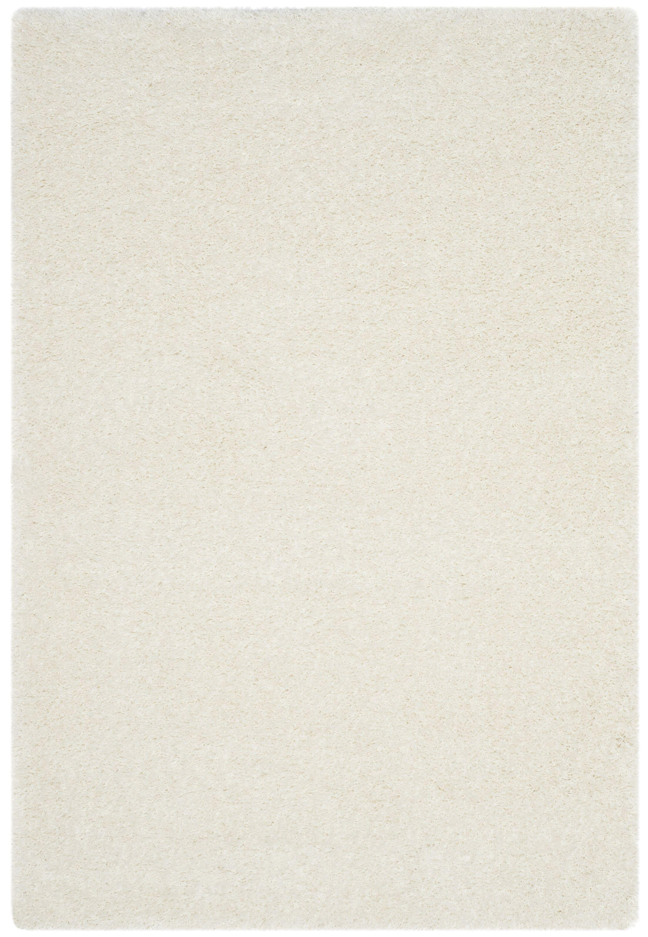 Virgo White Shag Area Rug Rug Size: Rectangle 5'1