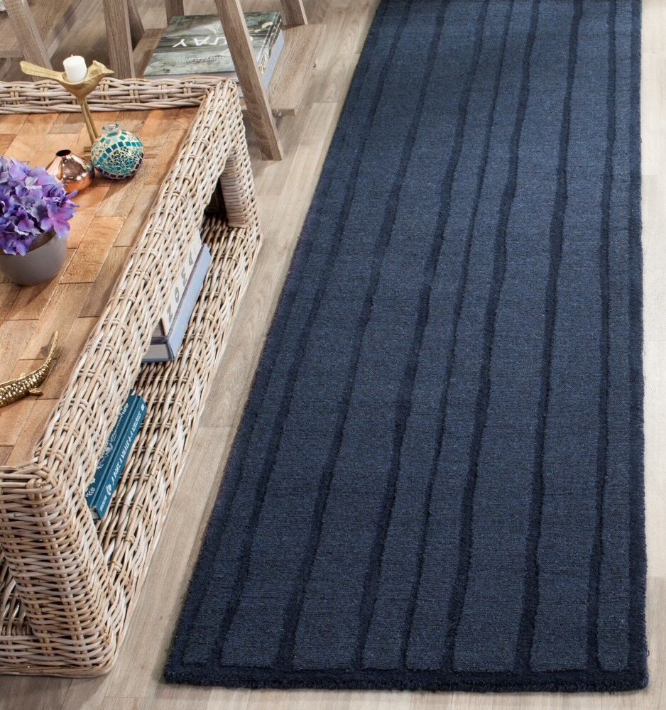 Freehand Stripe Hand-Loomed Wrought Iron Area Rug Rug Size: Rectangle 4' x 6'