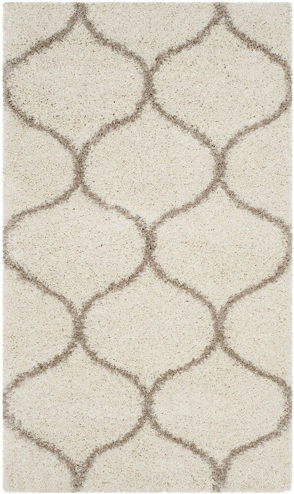 Tate Ivory/Beige Area Rug Rug Size: Round 5'