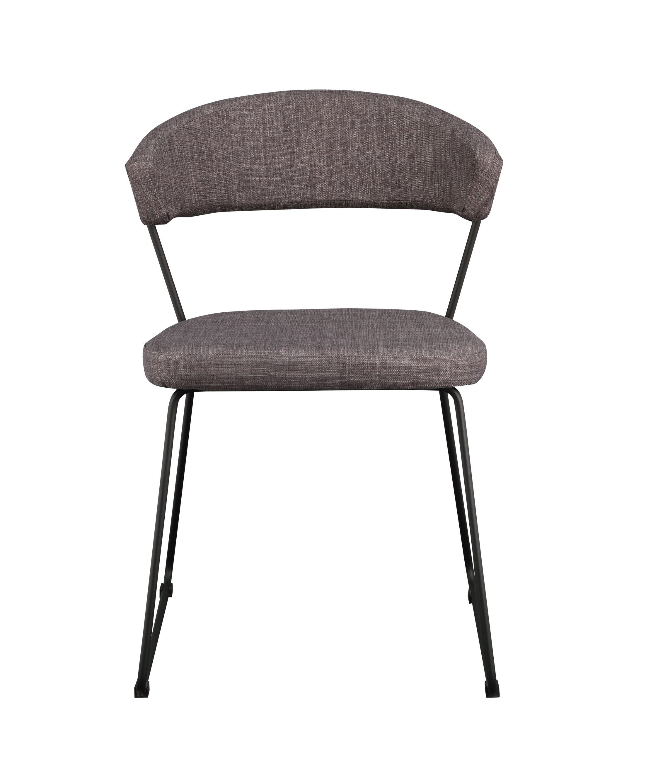 Calvin Side Chair Upholstery: Light Gray