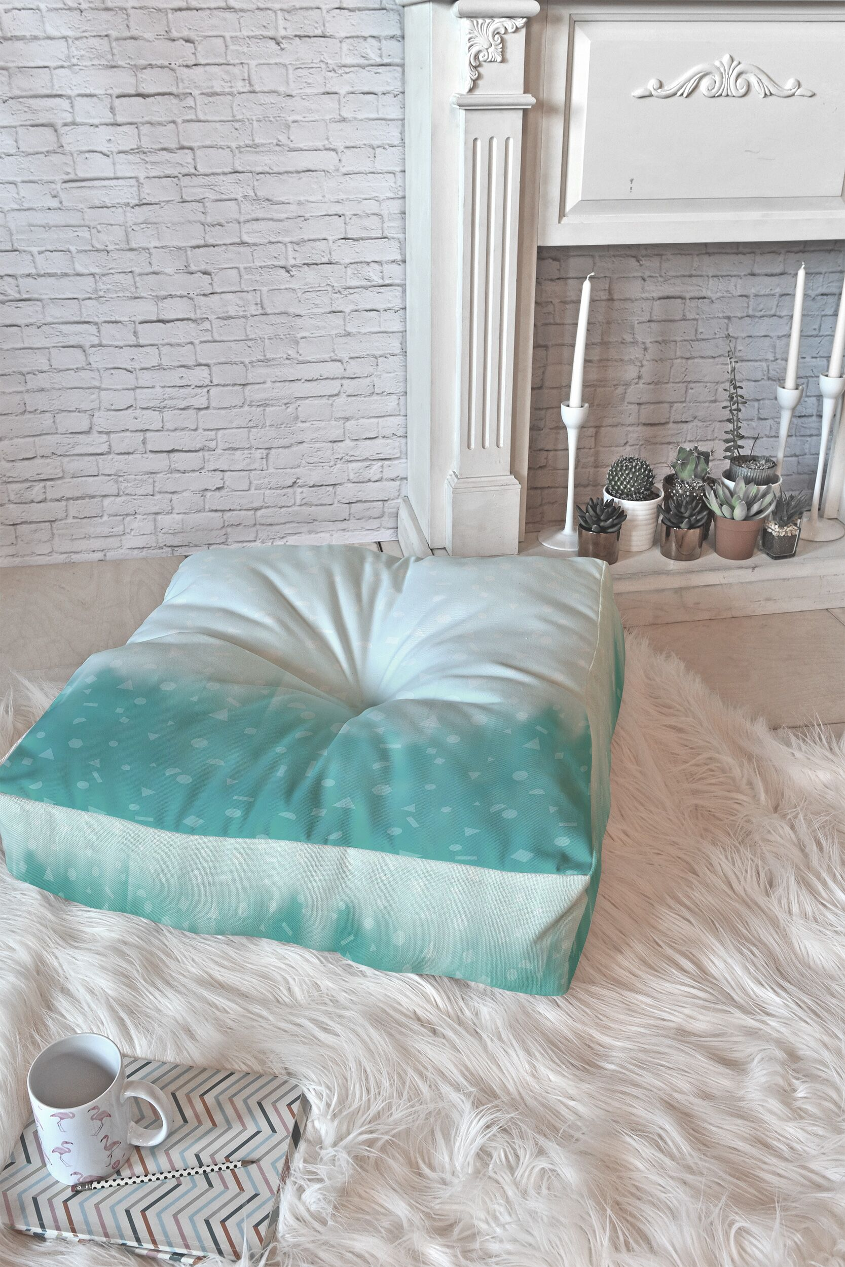Brook Floor Pillow Size: 26