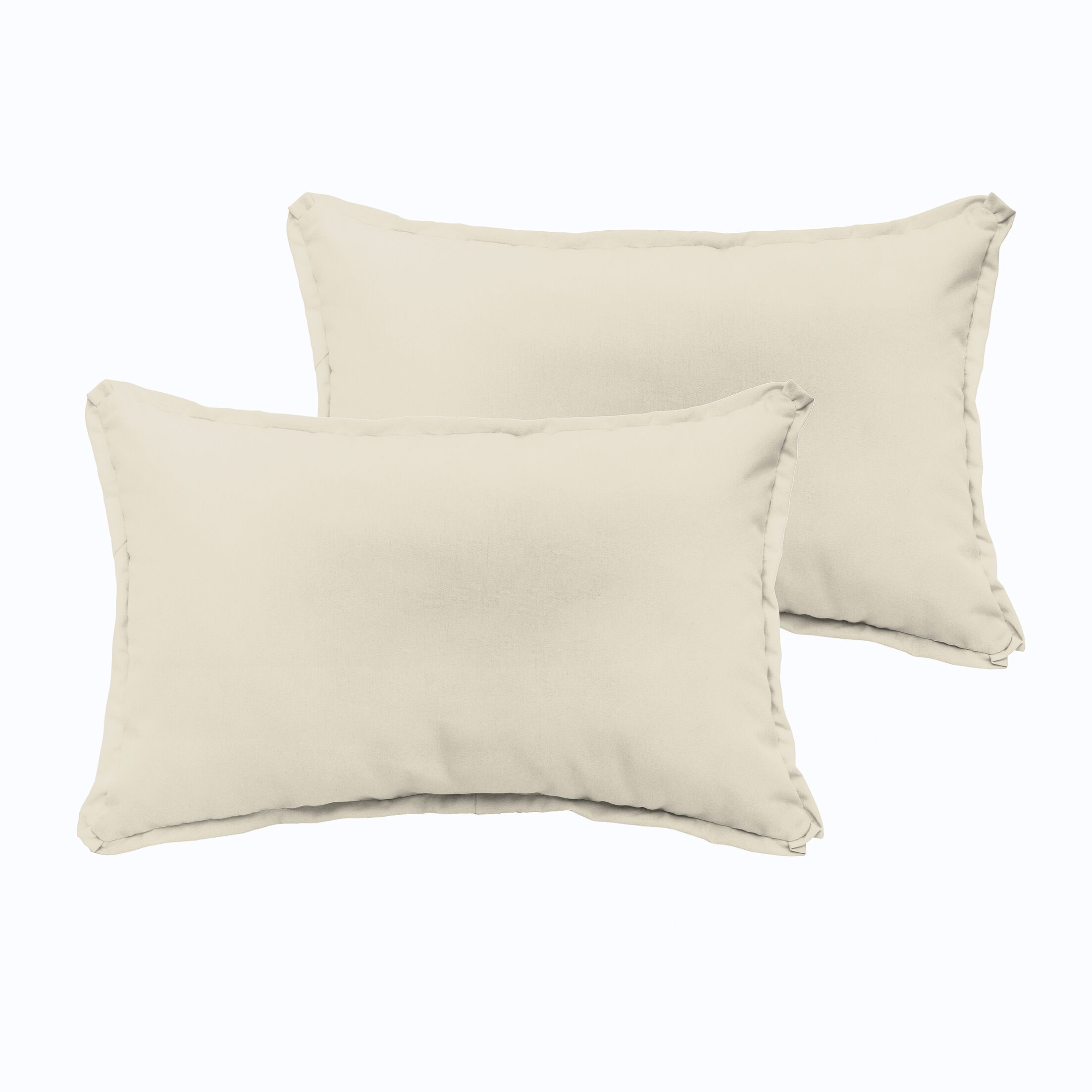 Branan Indoor/Outdoor Pillow Set Color: Ivory, Size: 13
