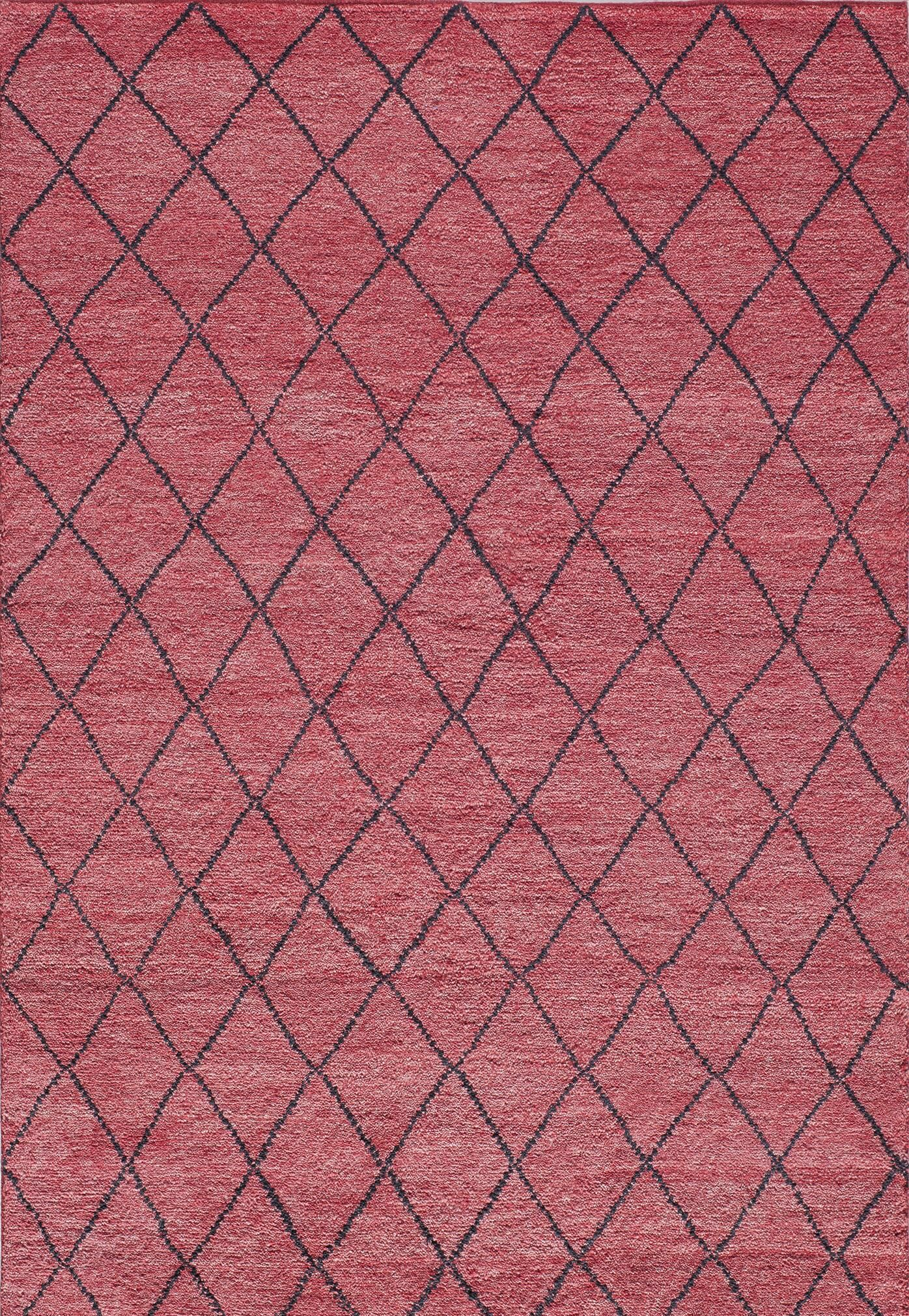Brice Hand-Knotted Red Area Rug Rug Size: Rectangle 5' x 8'
