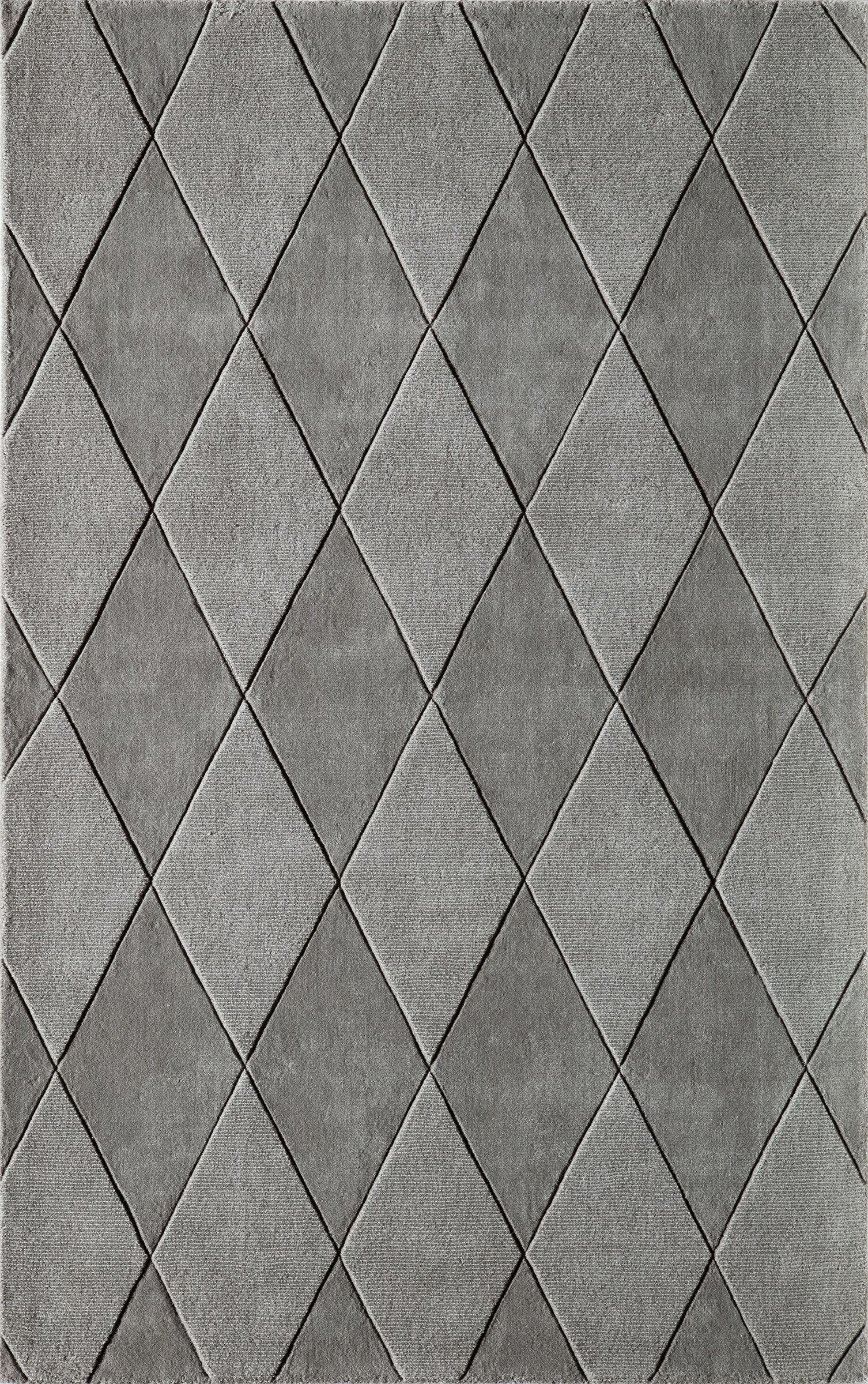 Bristol Hand-Tufted Gray Area Rug Rug Size: Rectangle 8' x 11'