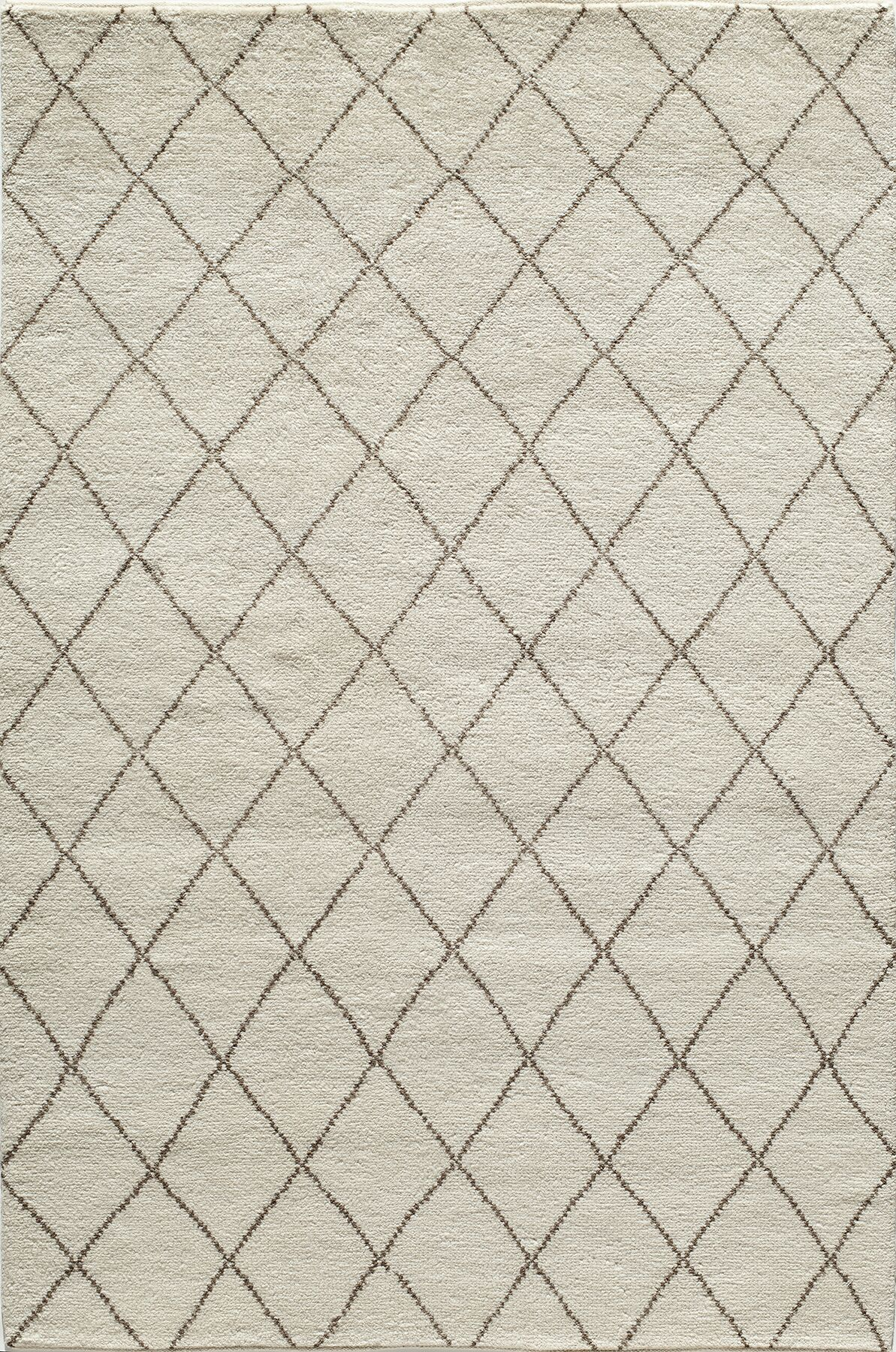 Brice Hand-Knotted Ivory Area Rug Rug Size: Runner 2'3