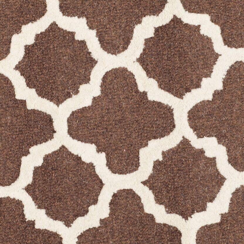Darla Dark Brown/Ivory Trellis Area Rug Rug Size: Rectangle 4' x 6'