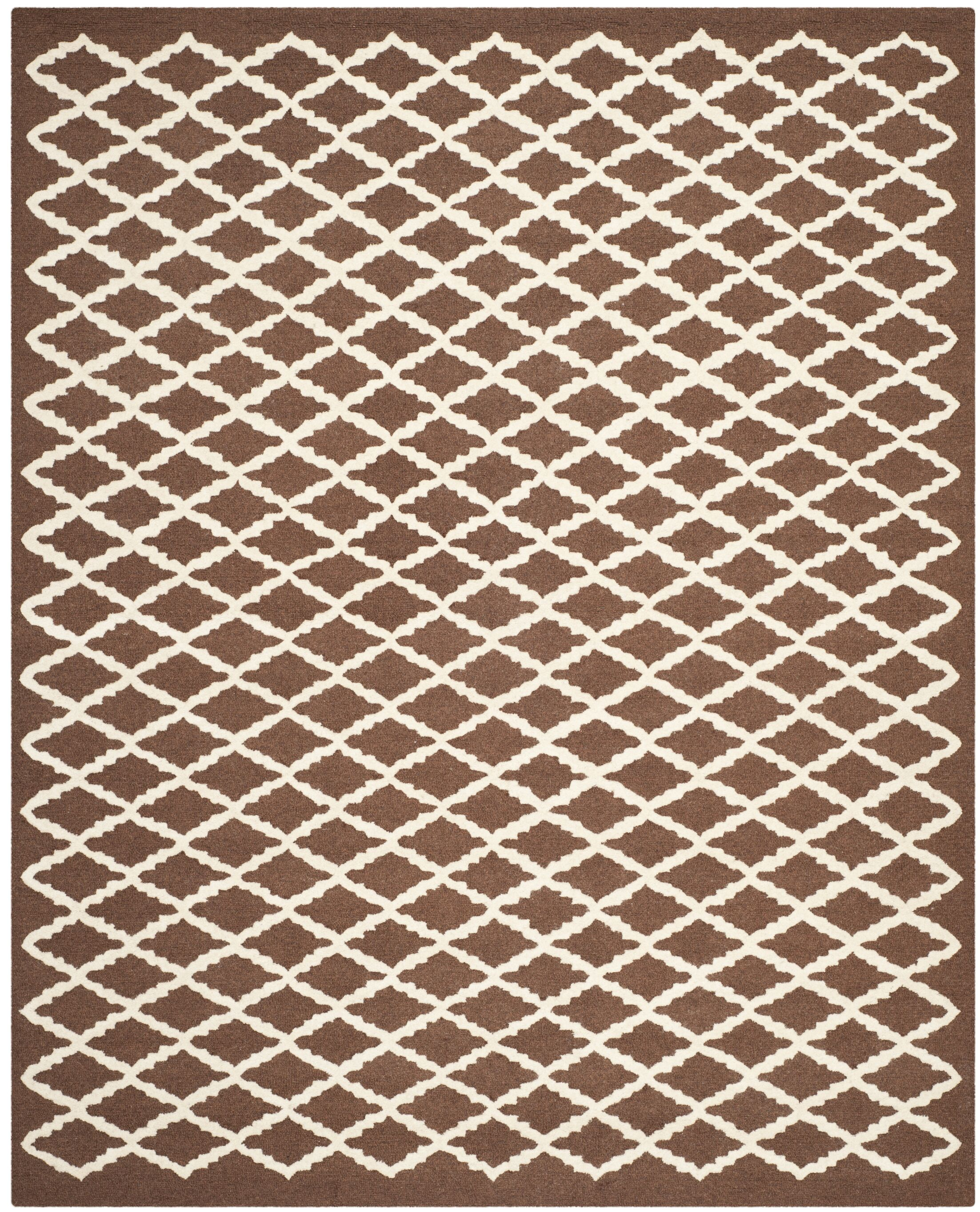 Darla Dark Brown Geometric Area Rug Rug Size: Rectangle 8' x 10'