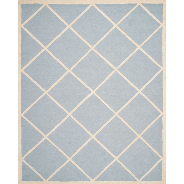 Darla Light Blue/Ivory Area Rug Rug Size: Rectangle 8' x 10'