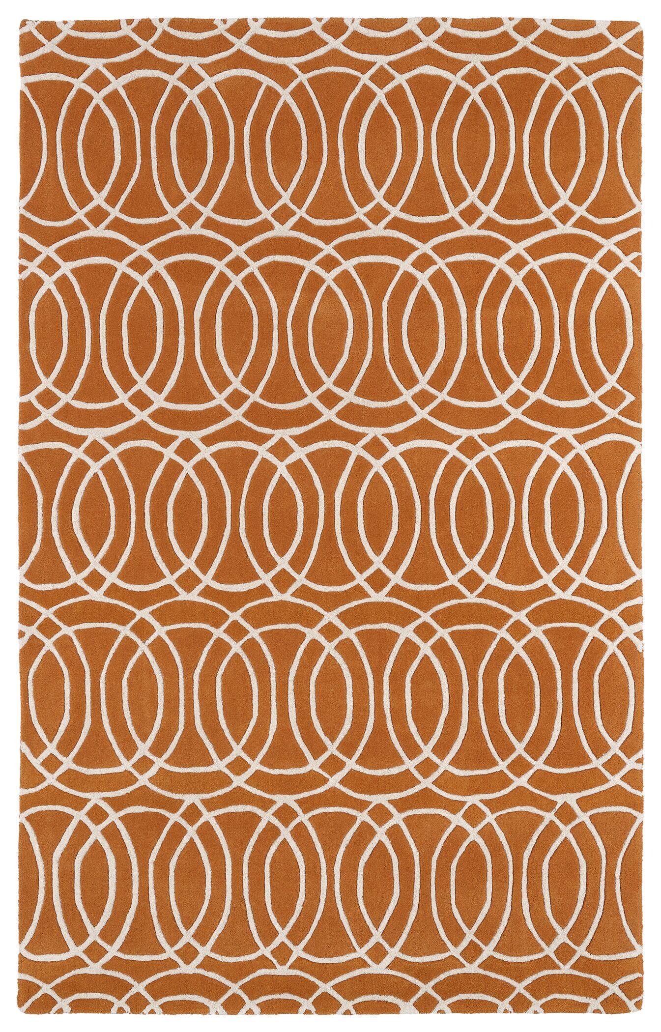Molly Orange/White Area Rug Rug Size: Rectangle 3' x 5'