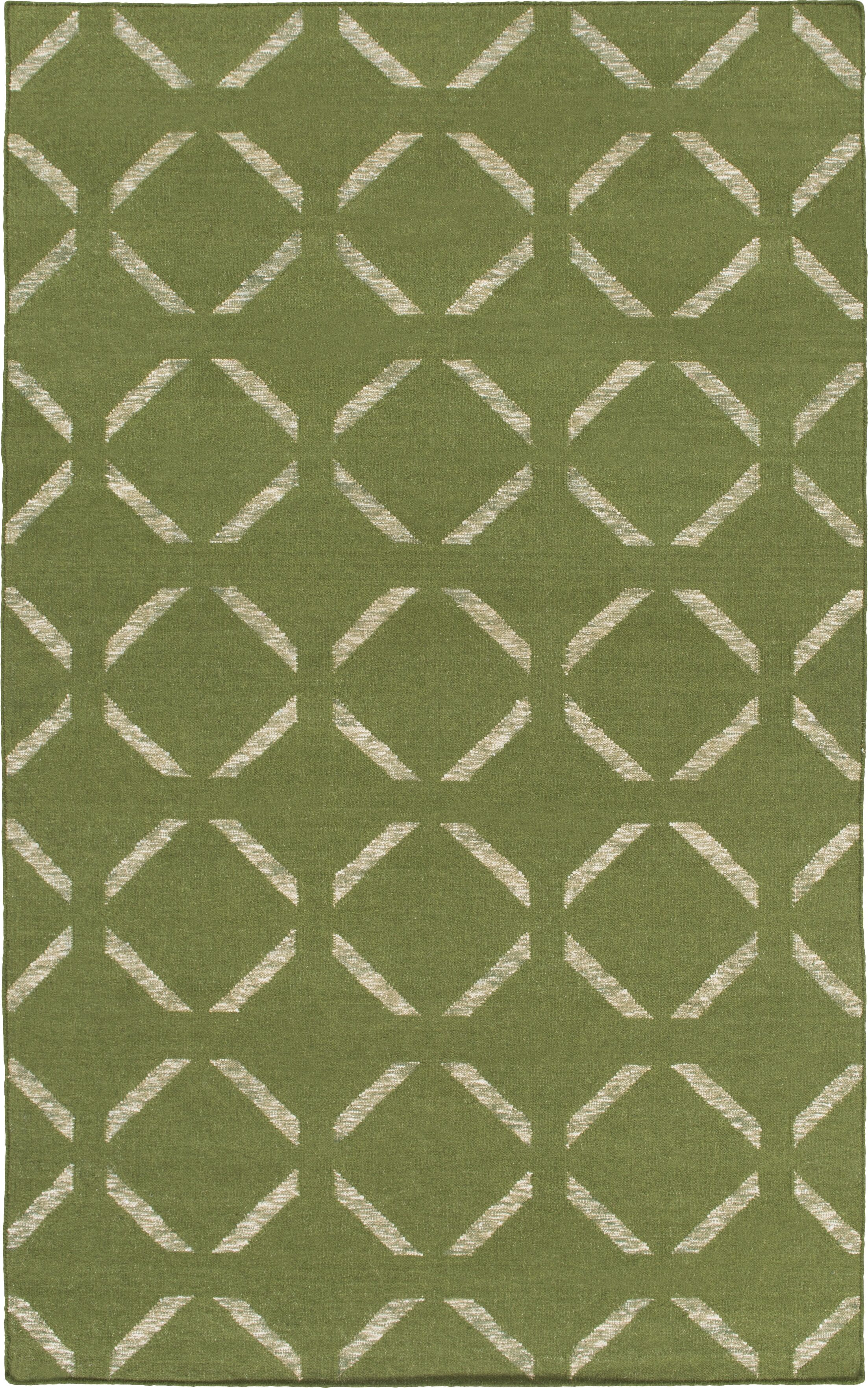 Hand-Woven Green Area Rug Rug Size: Rectangle 8' x 10'
