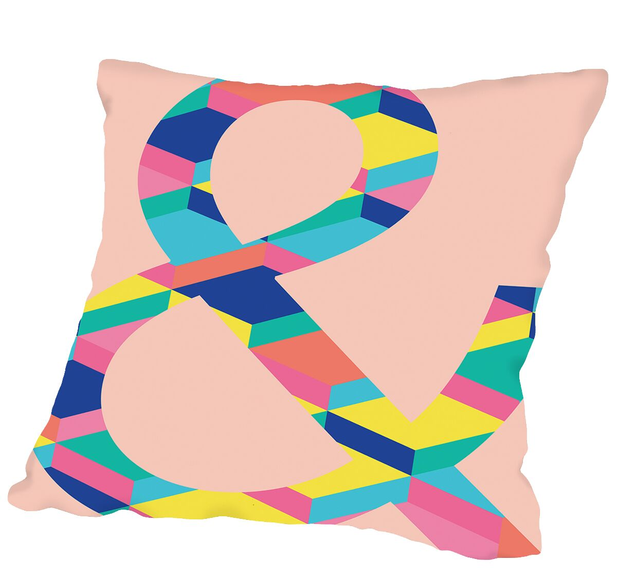 Ampersand on Copy Outdoor Throw Pillow Size: 16