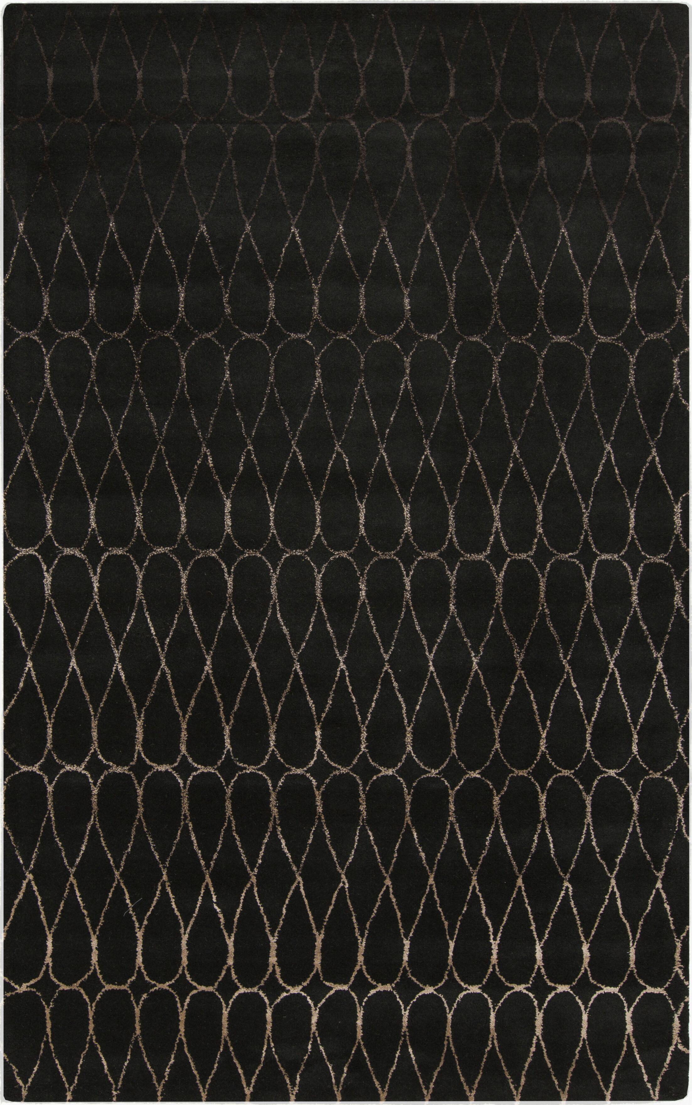 Romola Geometric Charcoal Area Rug Rug Size: Runner 2'6