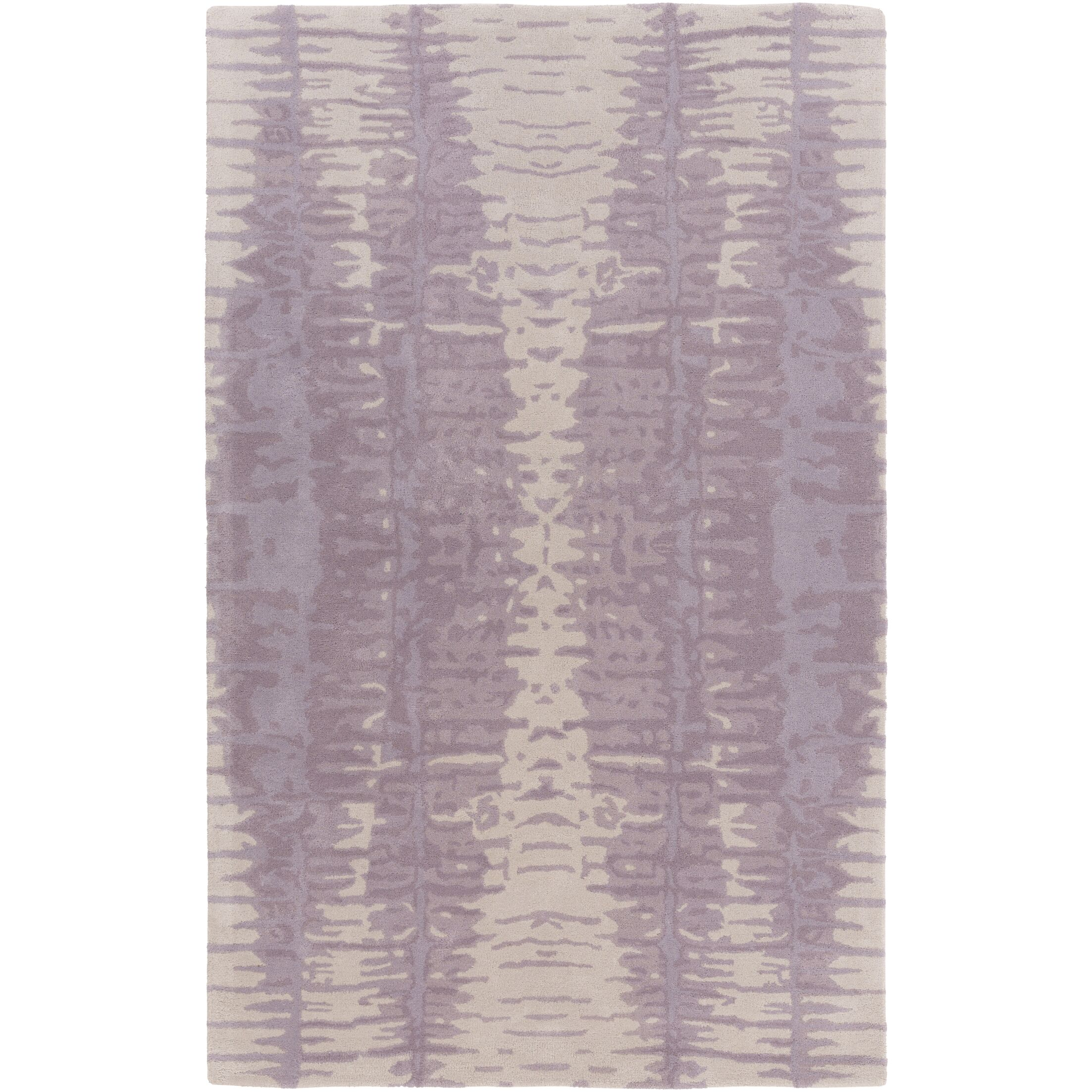 Romola Hand-Tufted Lavender/Light Gray Area Rug Rug Size: Rectangle 8' x 11'