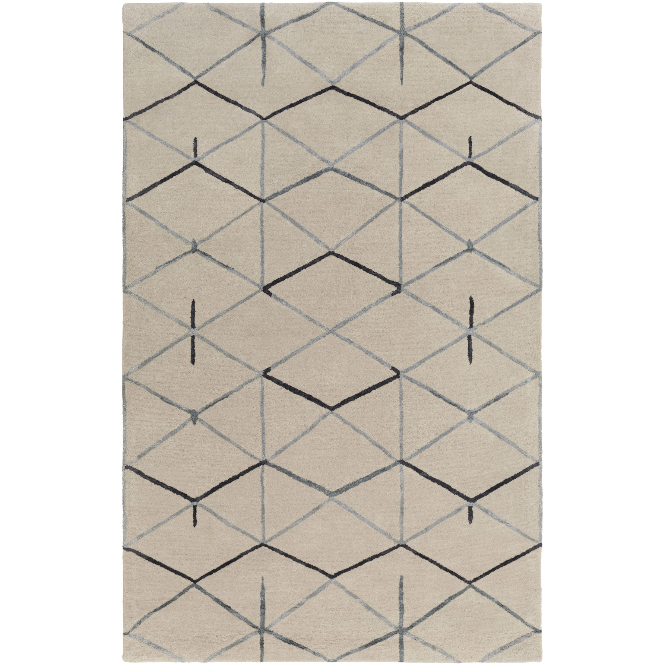Romola Hand-Tufted Medium Gray Area Rug Rug Size: Runner 2'6