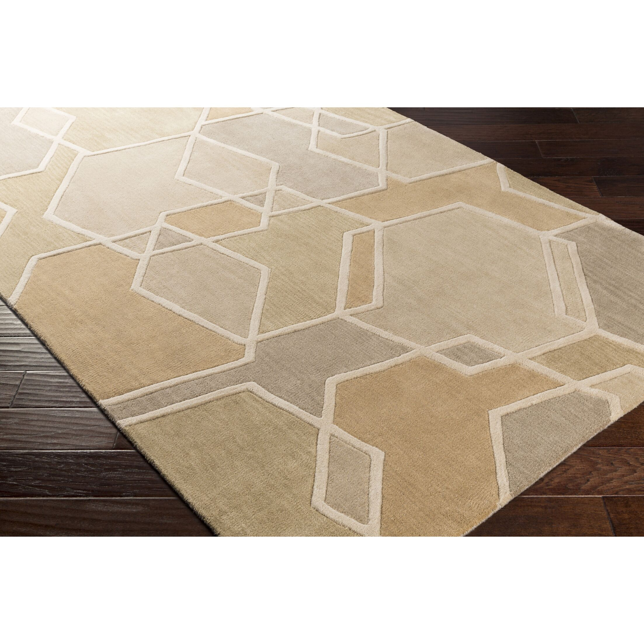 Vaughan Hand-Tufted Green/Brown Area Rug Rug Size: Rectangle 8' x 11'