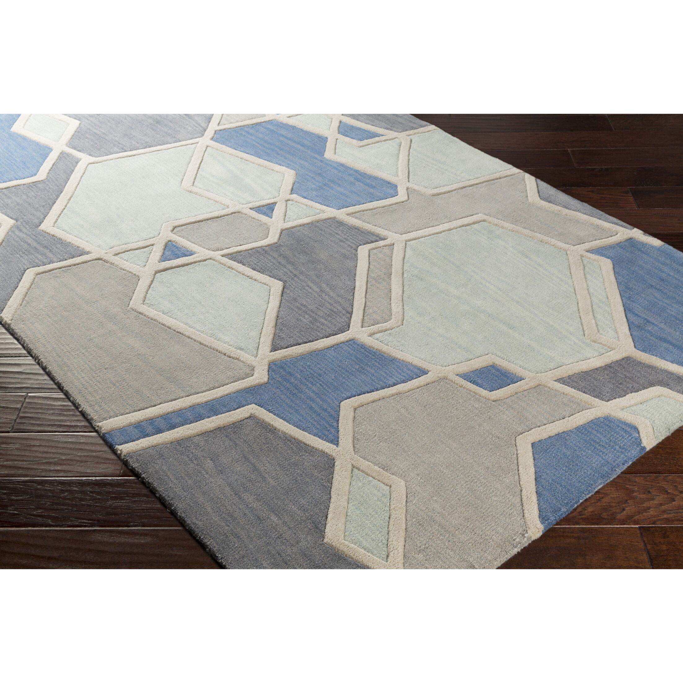 Vaughan Hand-Tufted Green/Gray Area Rug Rug Size: Runner 2'6