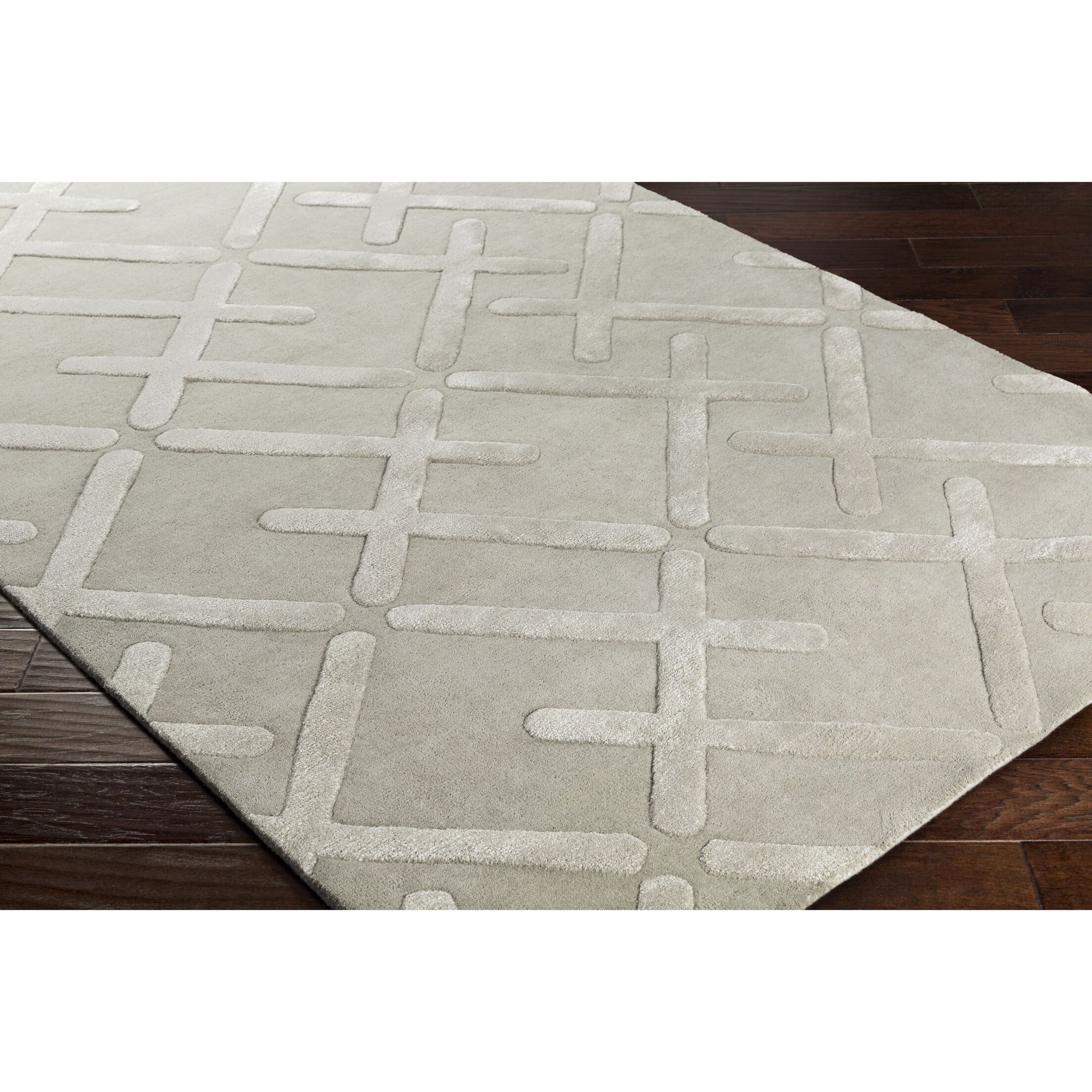 Vazquez Hand-Tufted Neutral/Gray Area Rug Rug Size: Rectangle 5' x 7'6