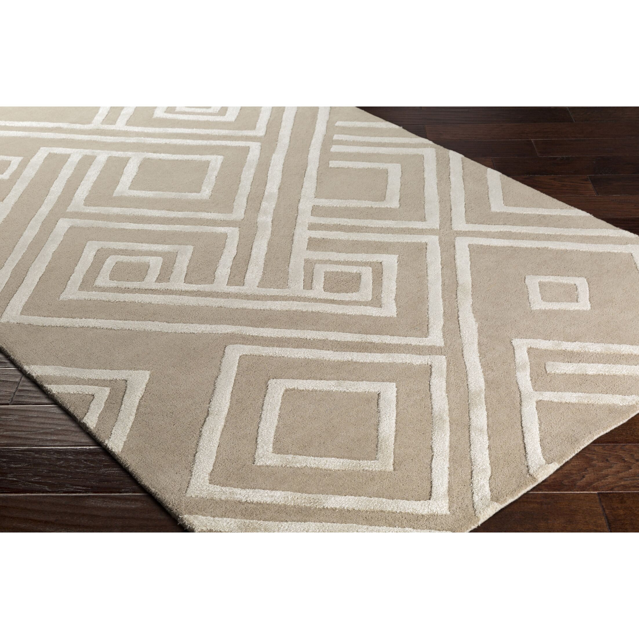 Vazquez Hand-Tufted Neutral Area Rug Rug Size: Rectangle 5' x 7'6