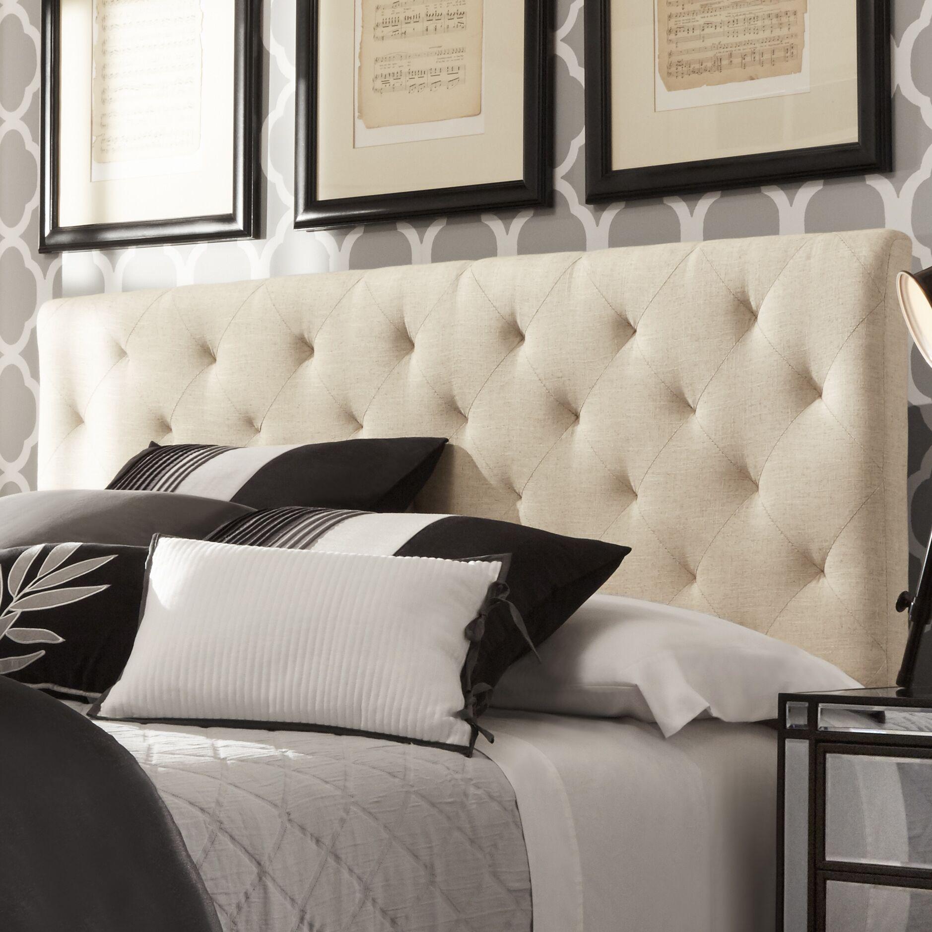Tripoli Upholstered Panel Headboard Upholstery: Dark Gray, Size: King