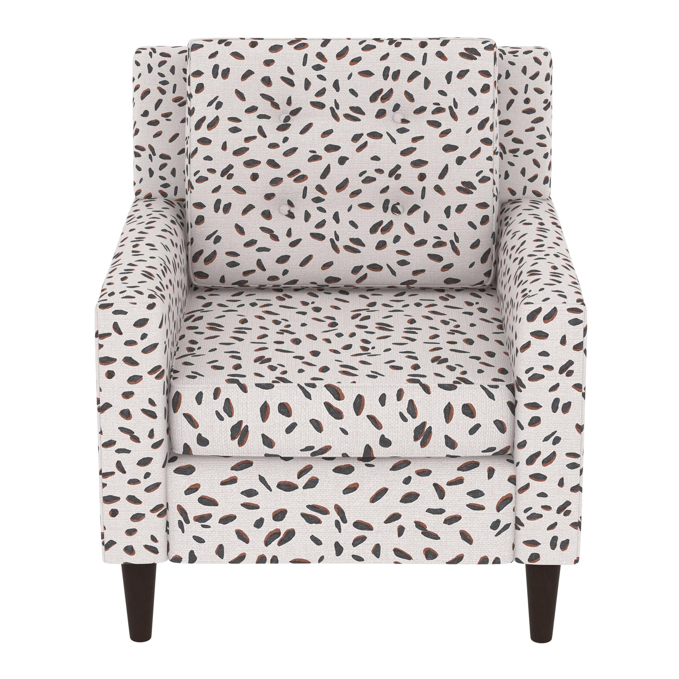 Greer Adobe Armchair Upholstery: Neo Leo Cream Tan Black OGA