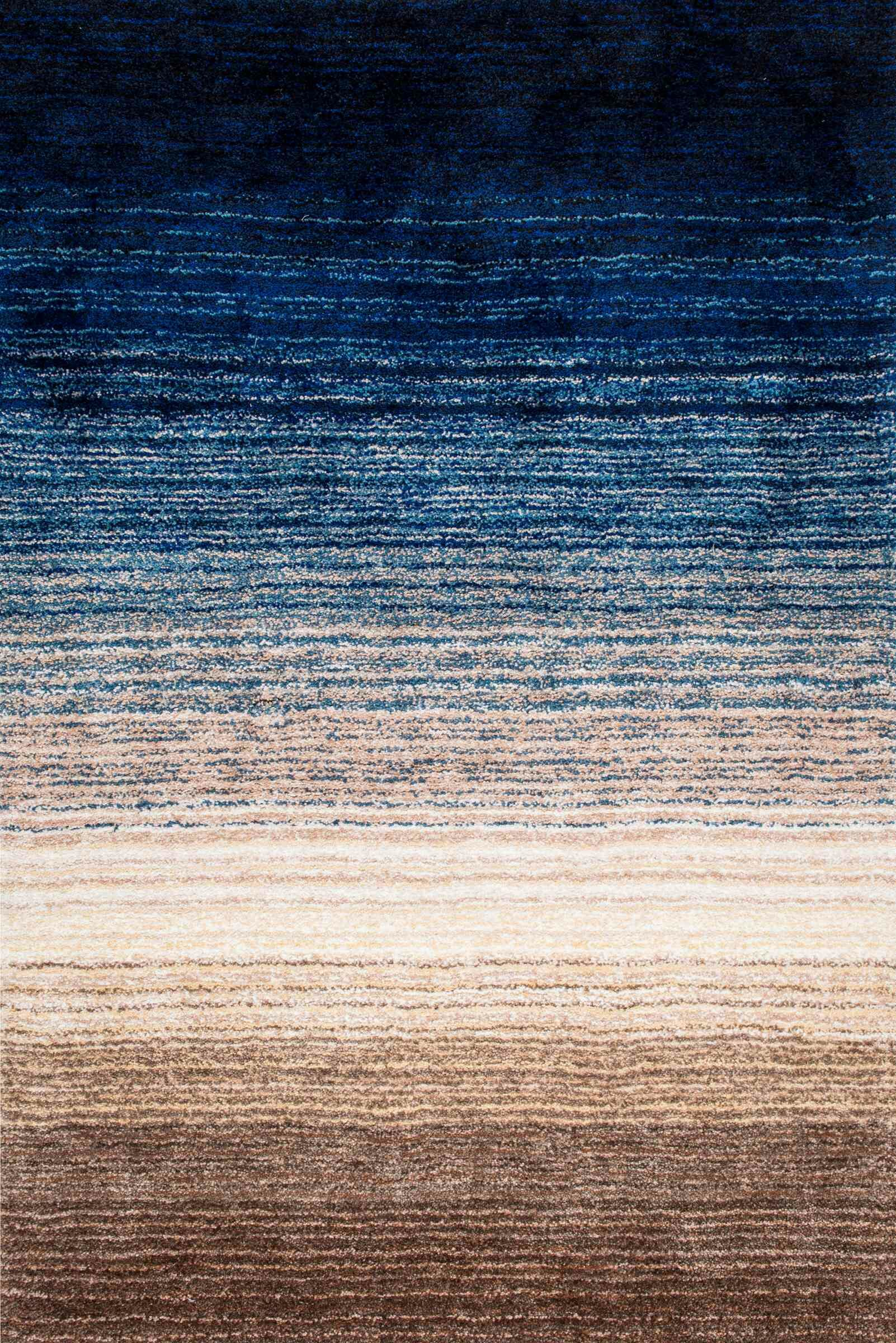 Antony Hand-Tufted Brown/Navy Area Rug Rug Size: Rectangle 5' x 8'