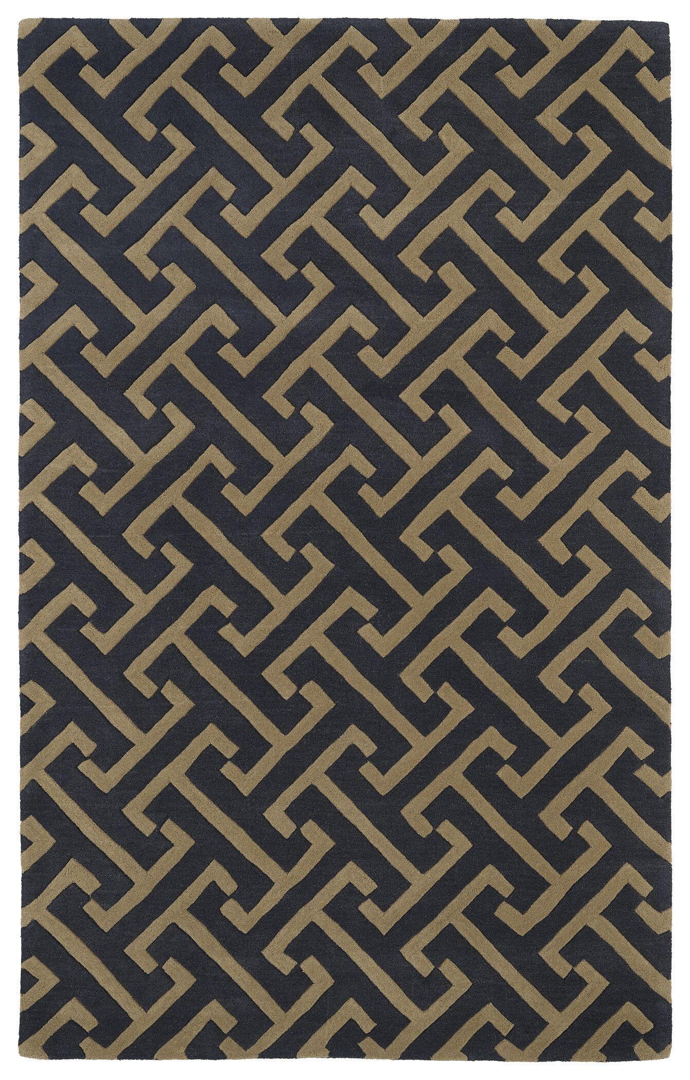 Vanauken Charcoal Area Rug Rug Size: Rectangle 8' x 11'