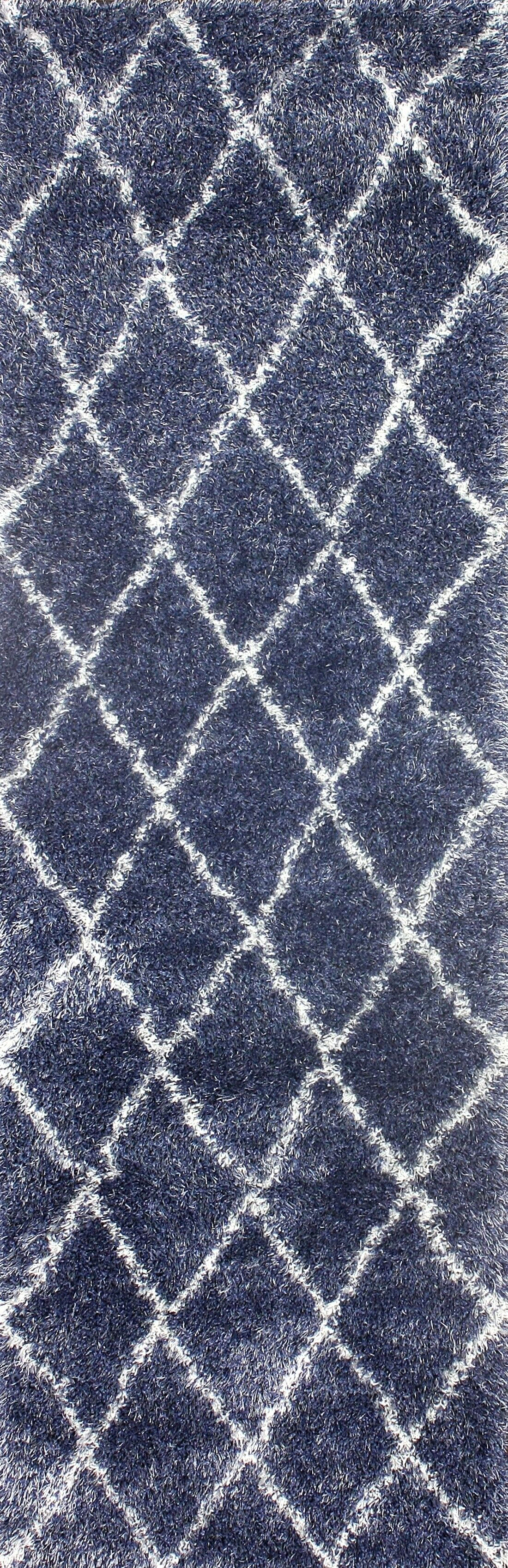 Emmanuel Trellis Blue Area Rug Rug Size: Rectangle 5'3