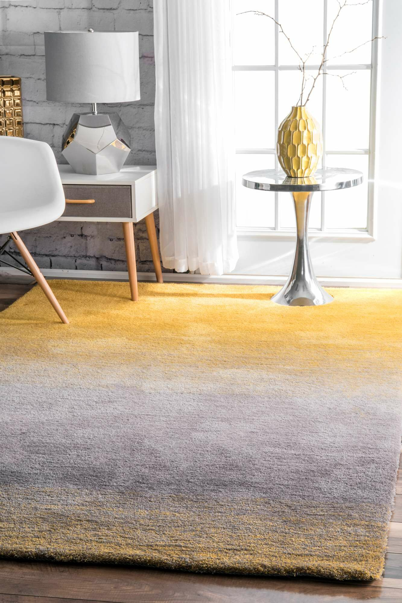 Kral Hand-Tufted Yellow Area Rug Rug Size: Runner 2'6