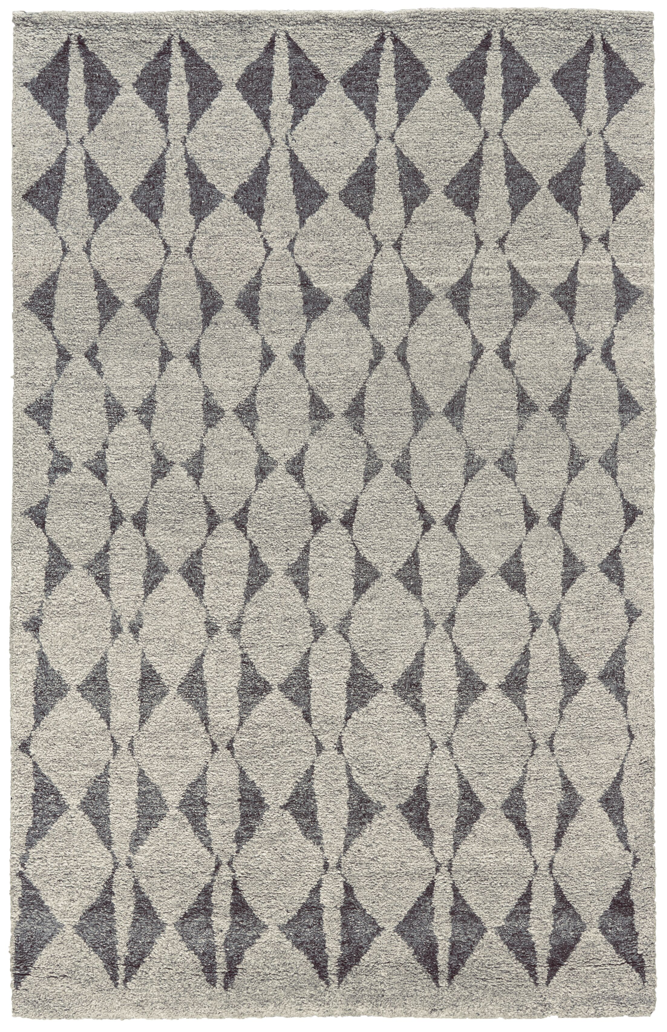 Octavia Hand-Knotted Gray Area Rug Rug Size: Rectangle 2' x 3'