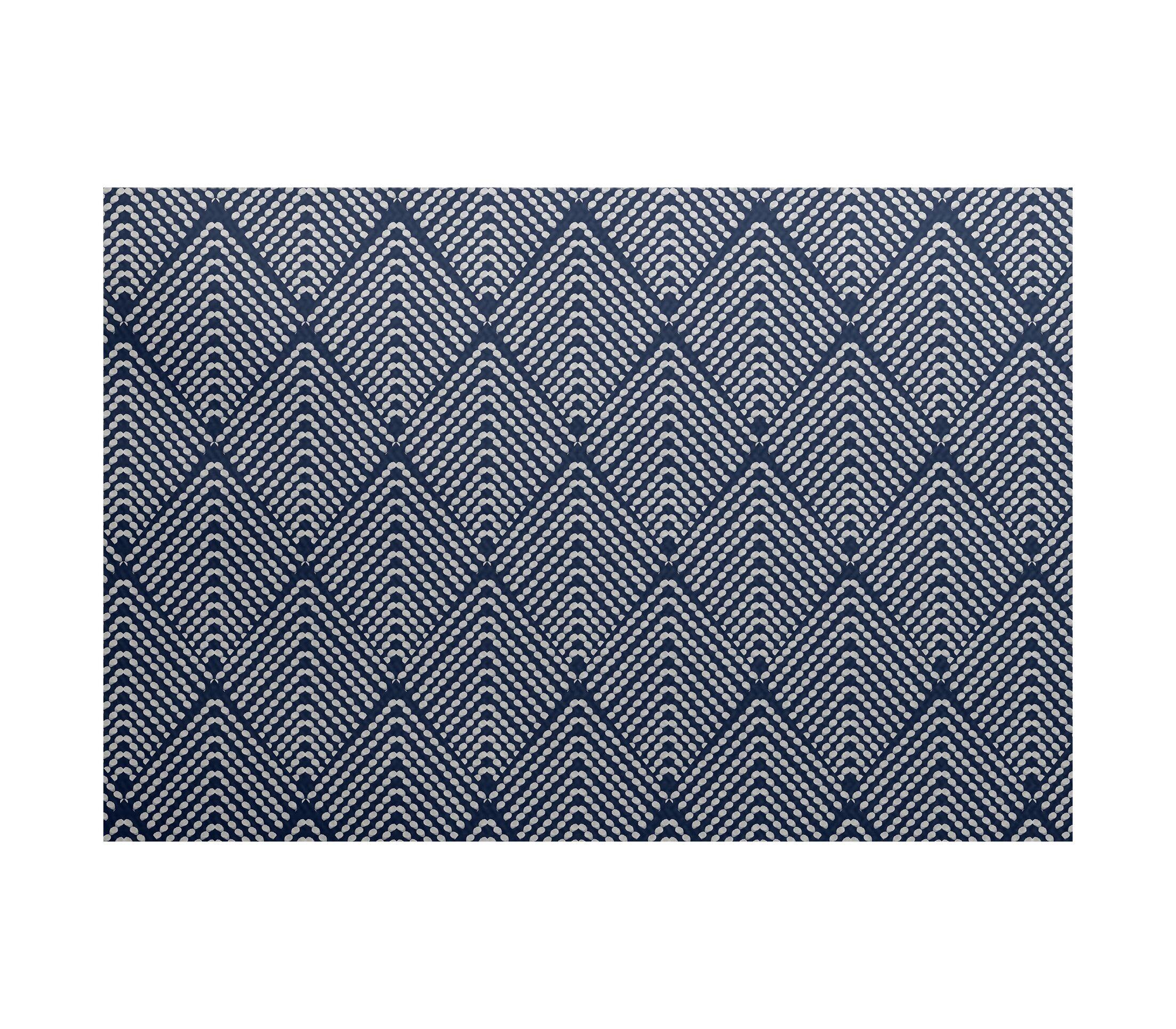 Waller Geometric Navy Blue Area Rug Rug Size: Rectangle 3' x 5'