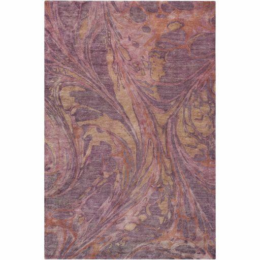 Moira Hand-Tufted Rose/Eggplant Area Rug Rug Size: Rectangle 5' x 7'6
