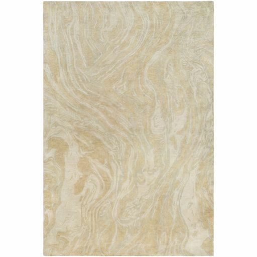 Moira  Hand-Tufted Moss/Peach Area Rug Rug Size: Rectangle 2' x 3'