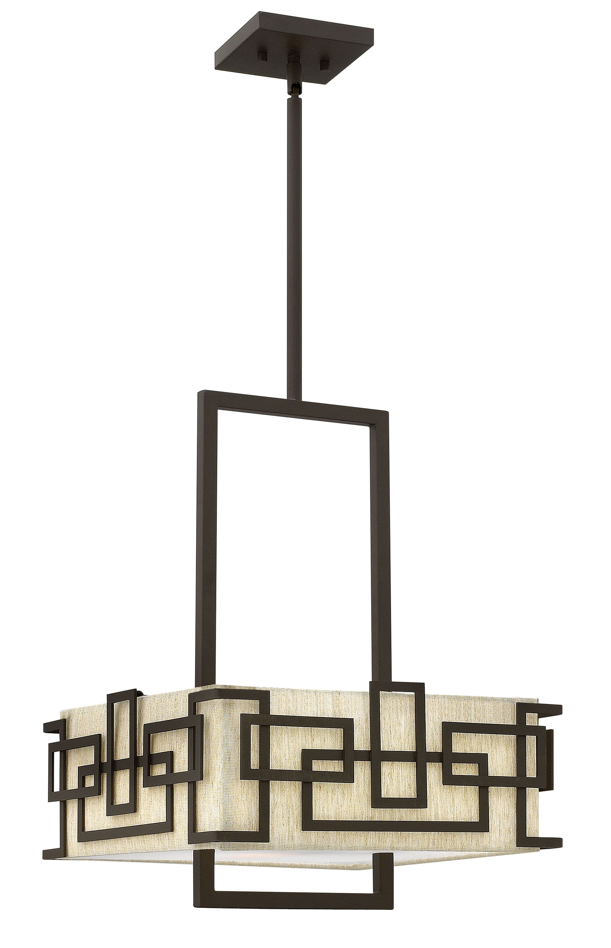 Lanza 3 Light Shaded Chandelier Size: 20