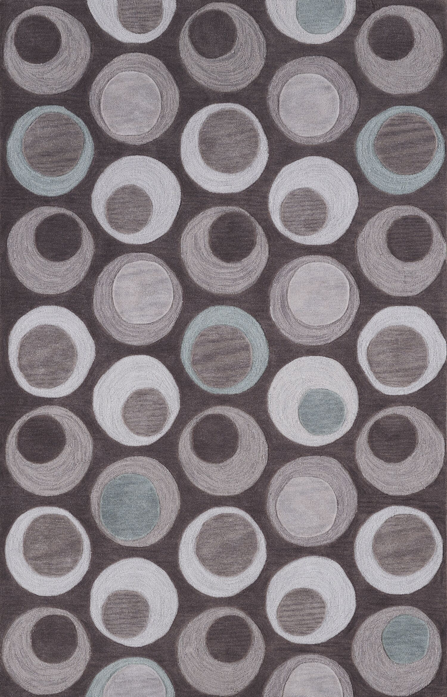 Norman Taupe Circle Area Rug Rug Size: Rectangle 3'6