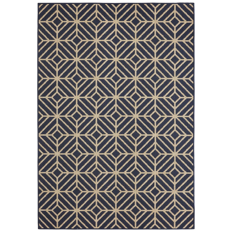 Aker Navy Indoor/Outdoor Area Rug Rug Size: Rectangle 9' x 12'