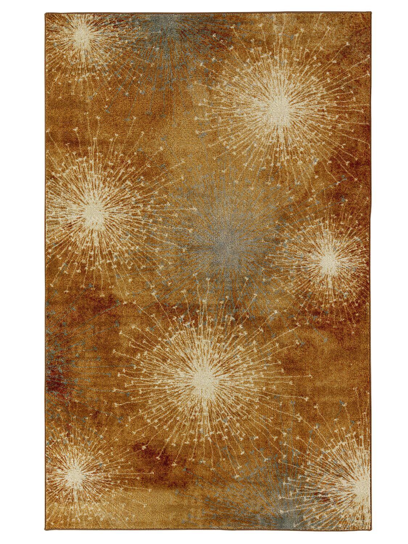 Nichole Gold Area Rug Rug Size: Rectangle 7'6