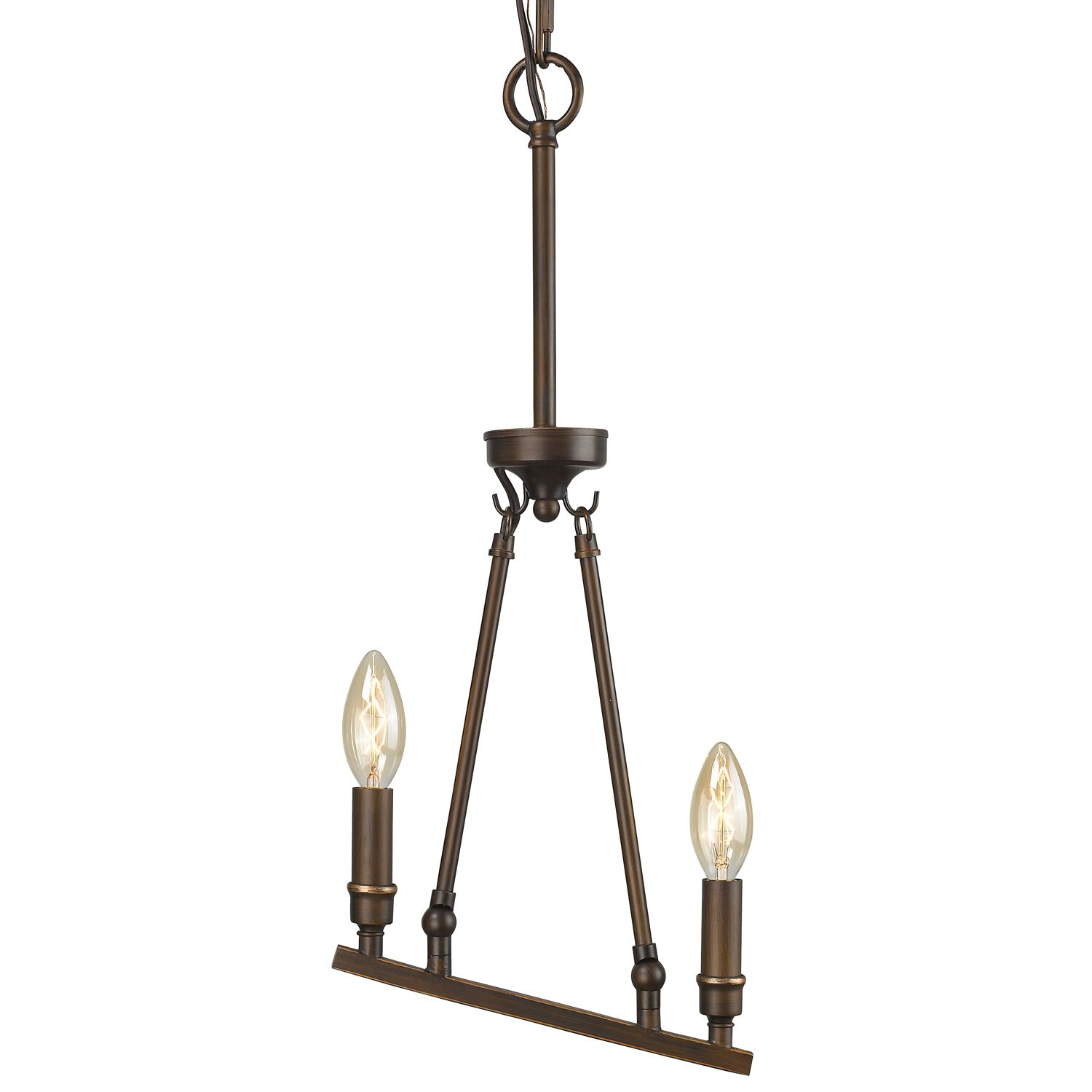 Uman 2-Light Kitchen Island Pendant Finish: Rubbed Bronze