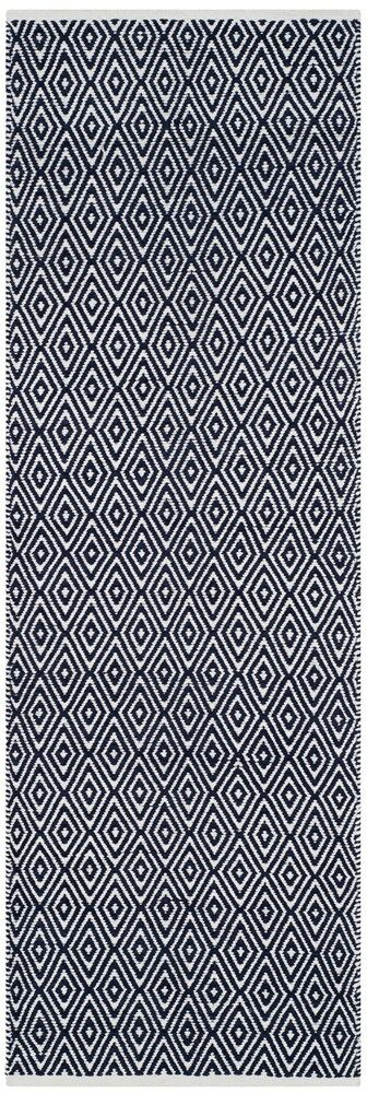 Arbuckle Cotton Navy Area Rug Rug Size: Runner 2'3