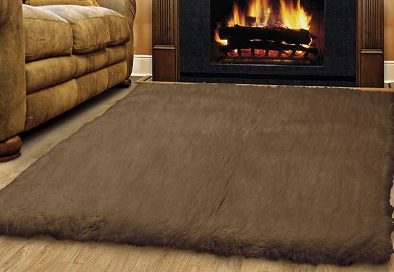Ransdell Wool Dark Brown Area Rug Rug Size: Rectangle 4' x 6'