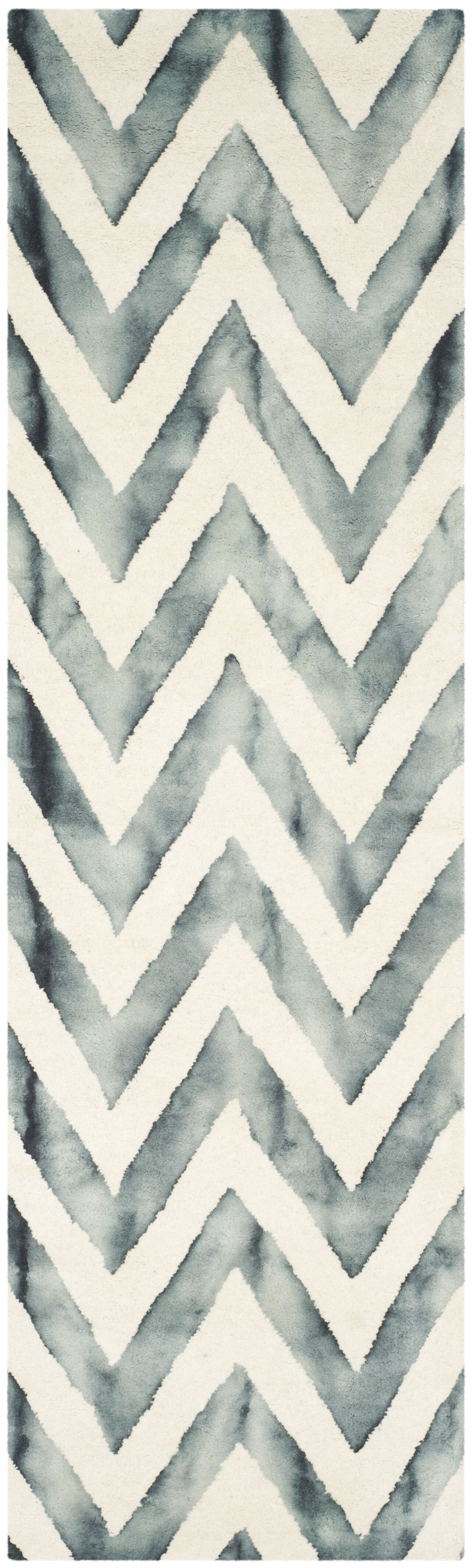 Crux Ivory/Gray Area Rug Rug Size: Runner 2'3