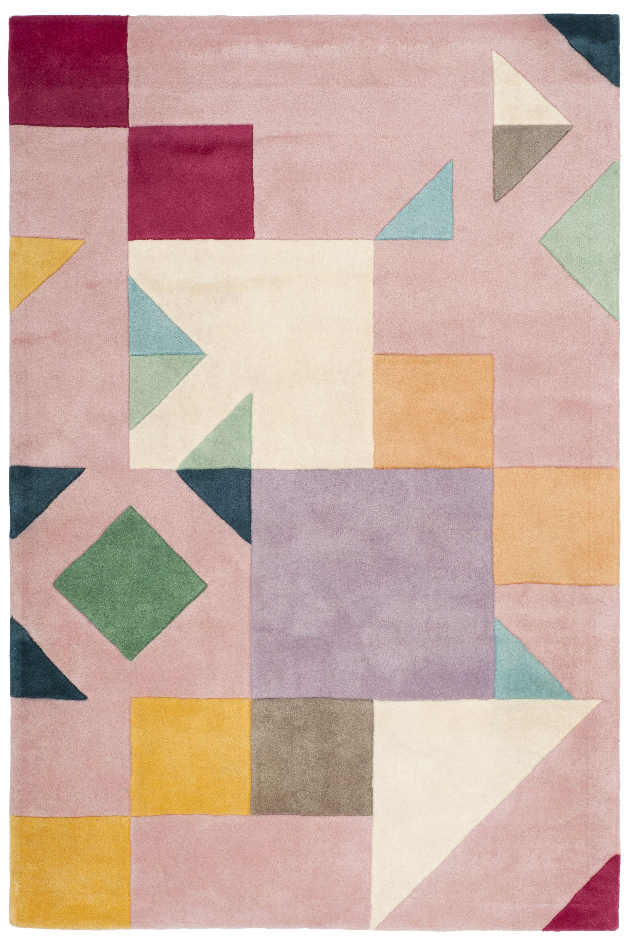 Carlberg Hand-Tufted Pink/Orange Area Rug Rug Size: Rectangle 4' x 6'