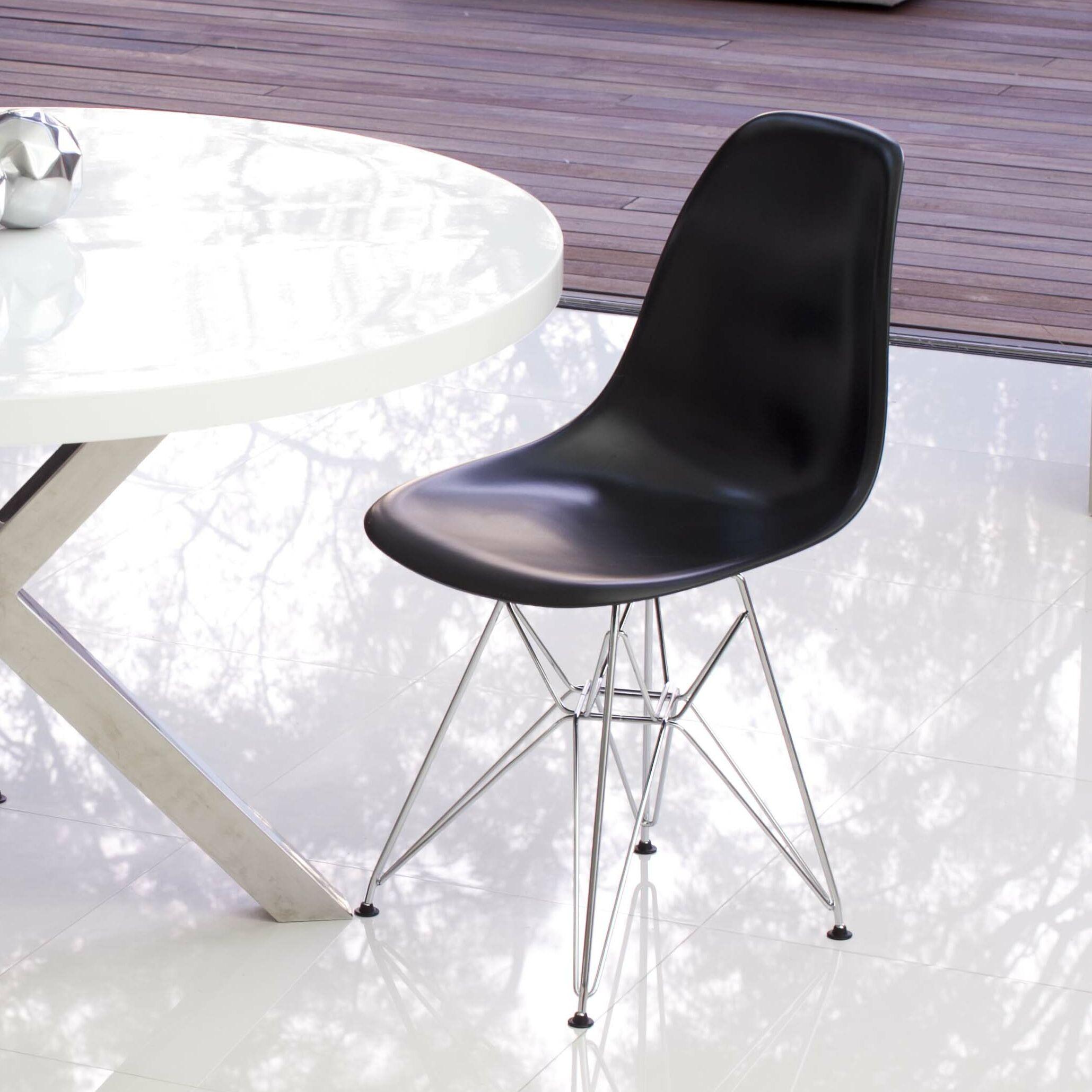 Boer Side Chair Finish: Black