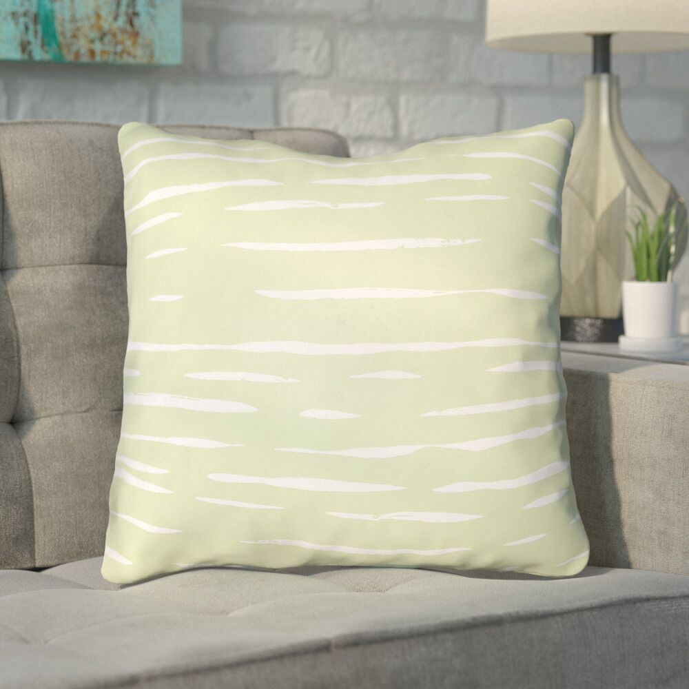 Smetana Outdoor Throw Pillow Size: 18