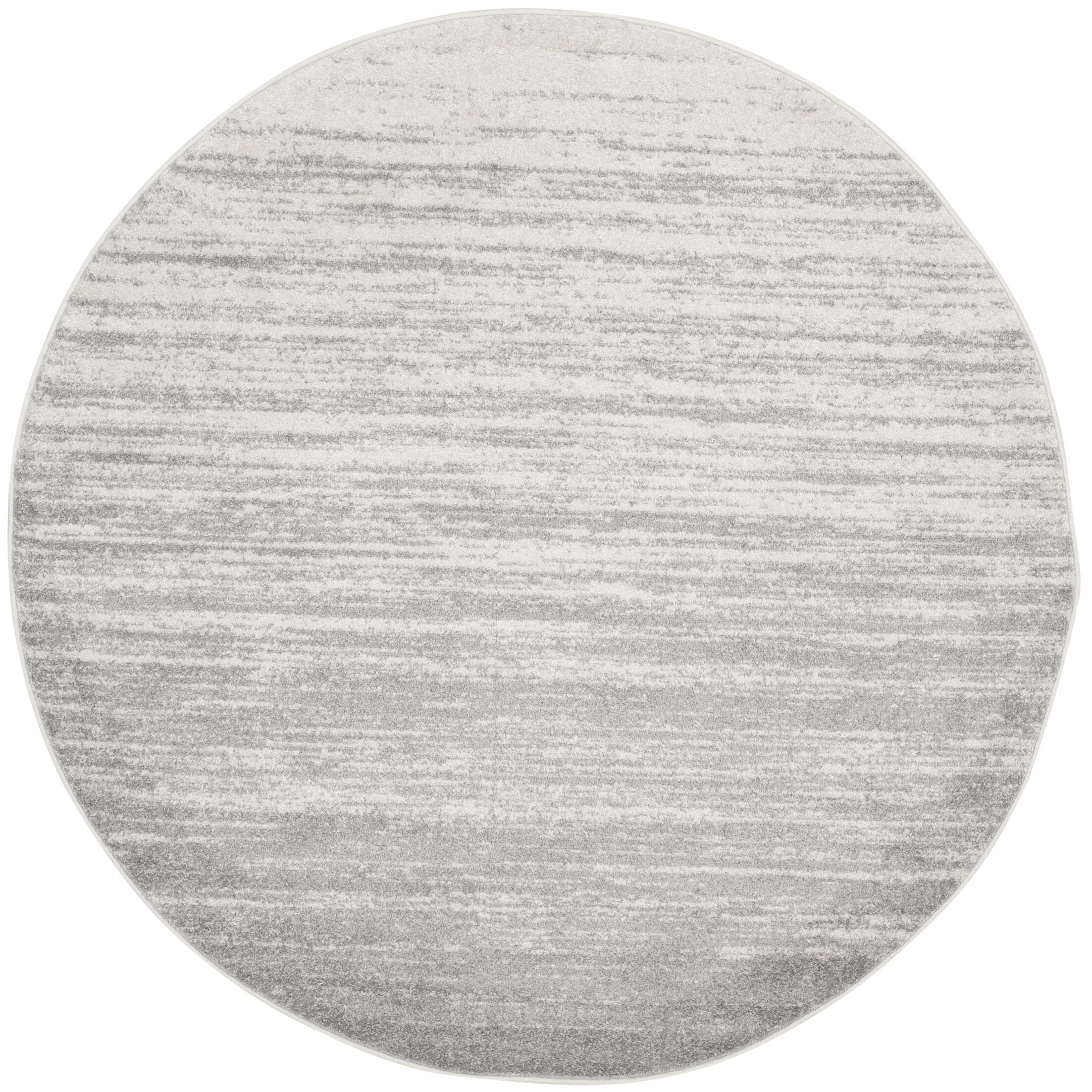 Mcguire Ivory/Silver Area Rug Rug Size: Round 8'