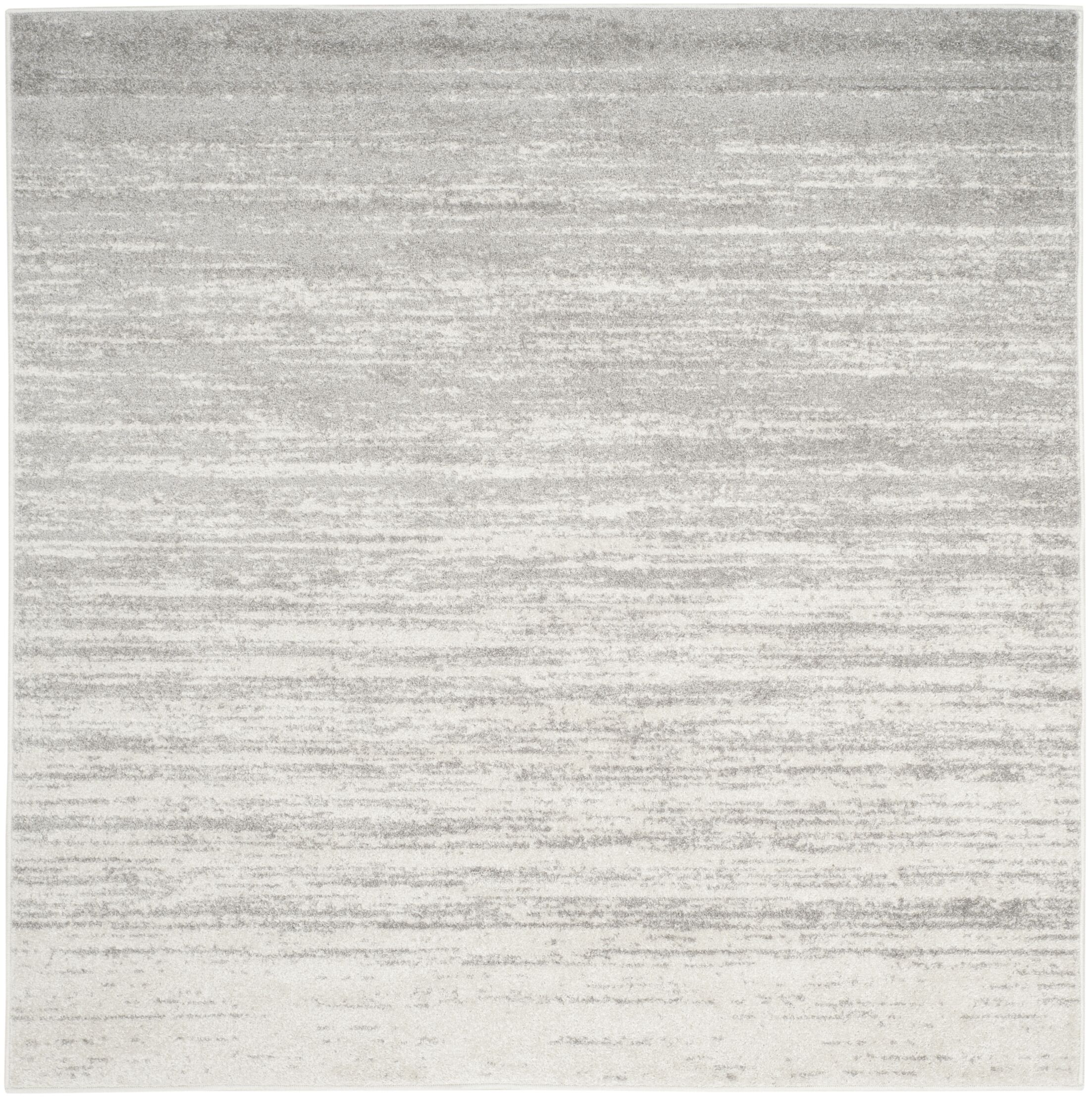 Mcguire Ivory/Silver Area Rug Rug Size: Square 6'