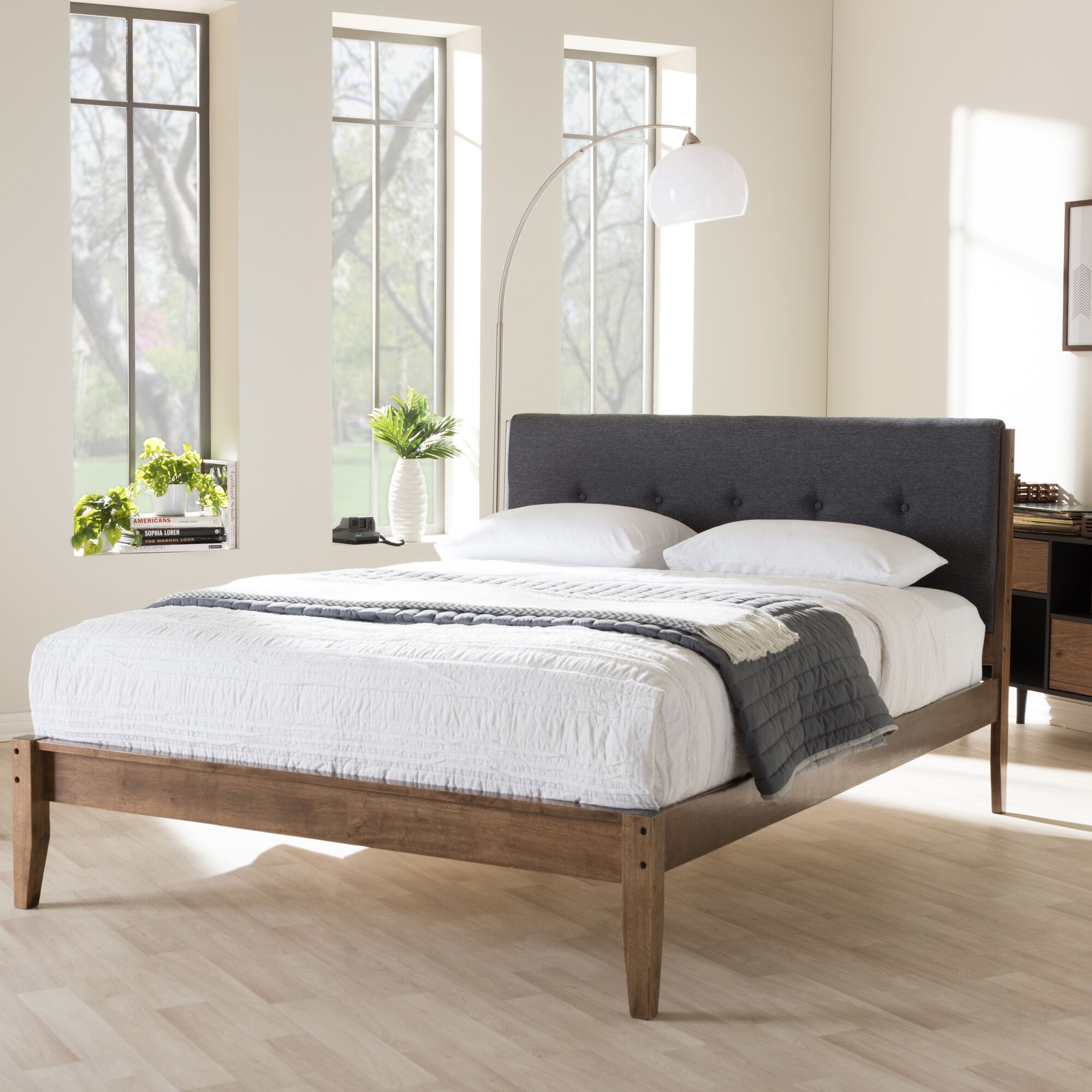 Cade Upholstered Platform Bed Size: King