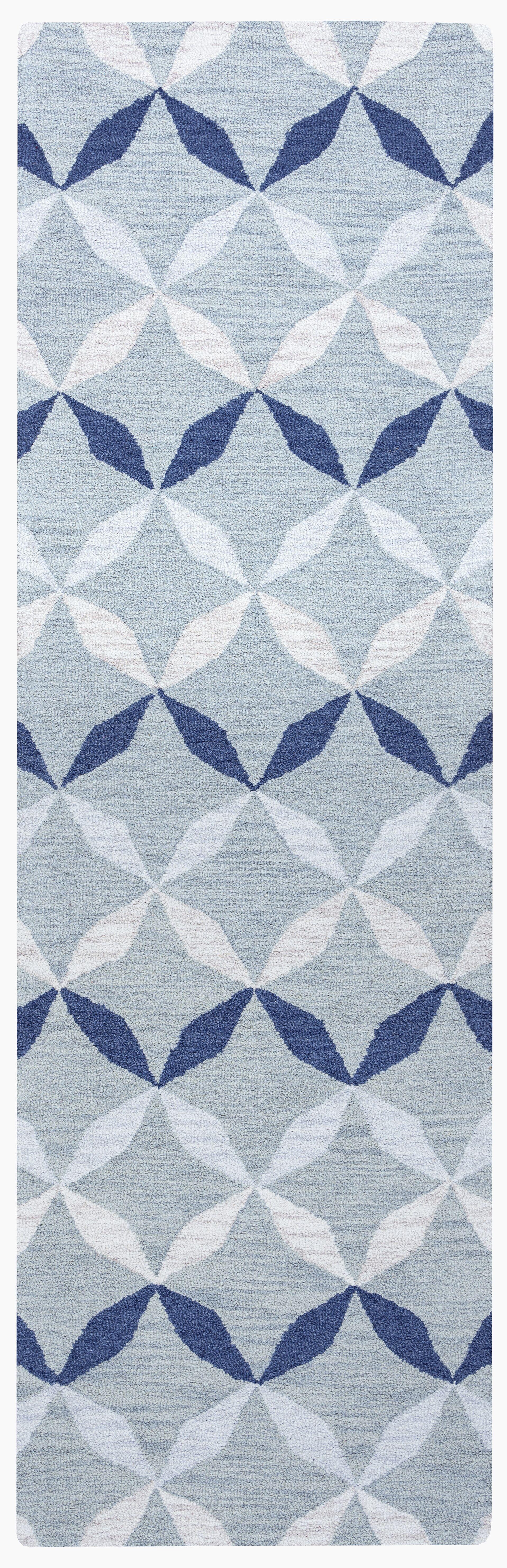 Marlee Hand-Tufted Blue Area Rug Rug Size: Runner 2'6